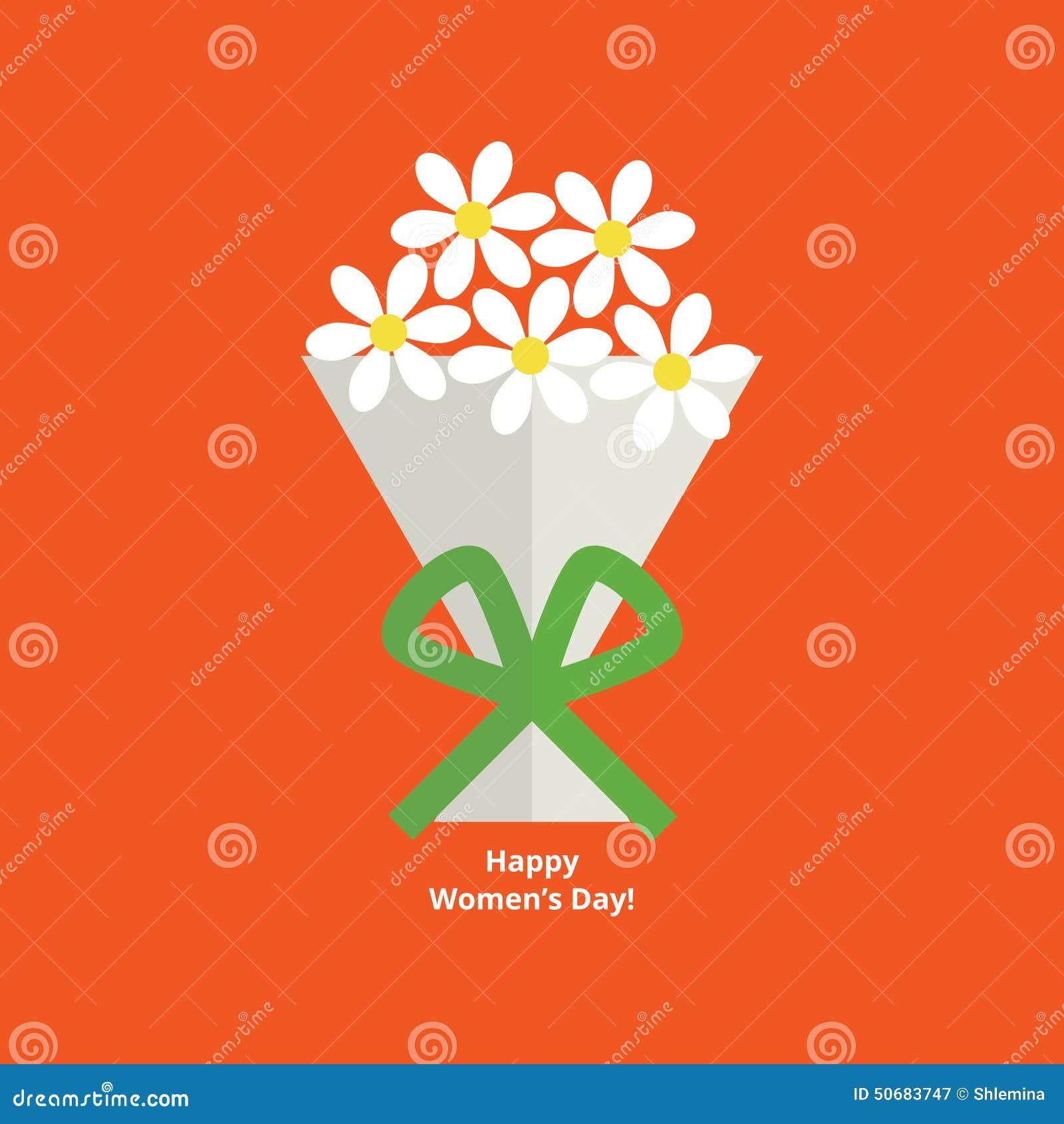 Download 妇女的日贺卡 向量例证. 插画 包括有 平面, 自然, 问候, 多彩多姿, 开花的, 花卉, 妇女, 装饰 - 50683747