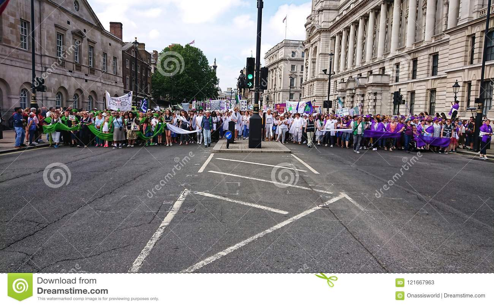 妇女自由行军伦敦英国