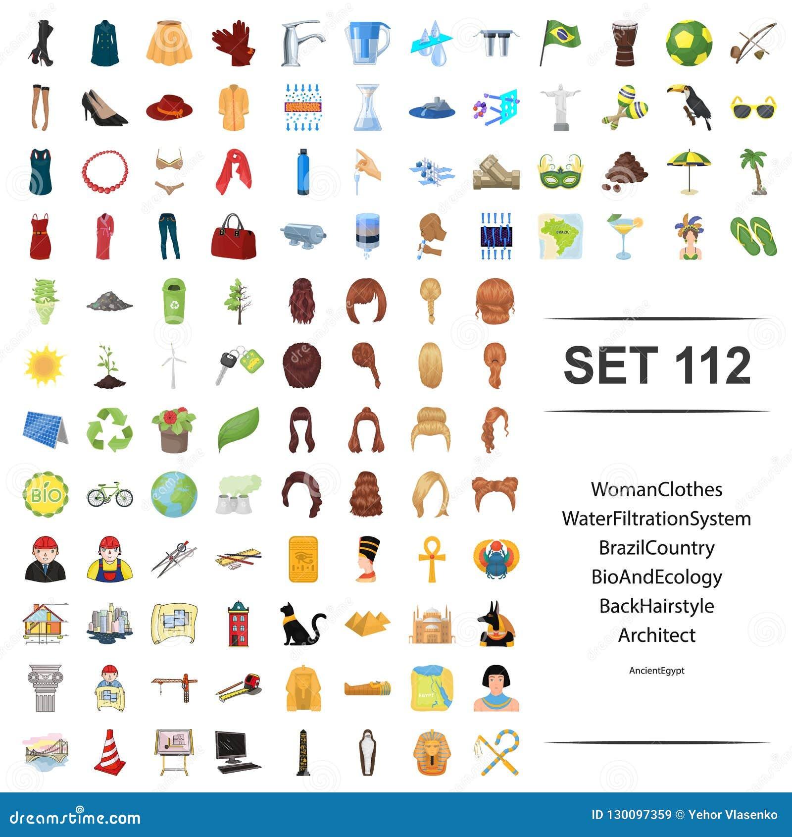 妇女,衣裳,水,滤清,系统,巴西,国家,生物生态后面发型建筑师的传染媒介例证