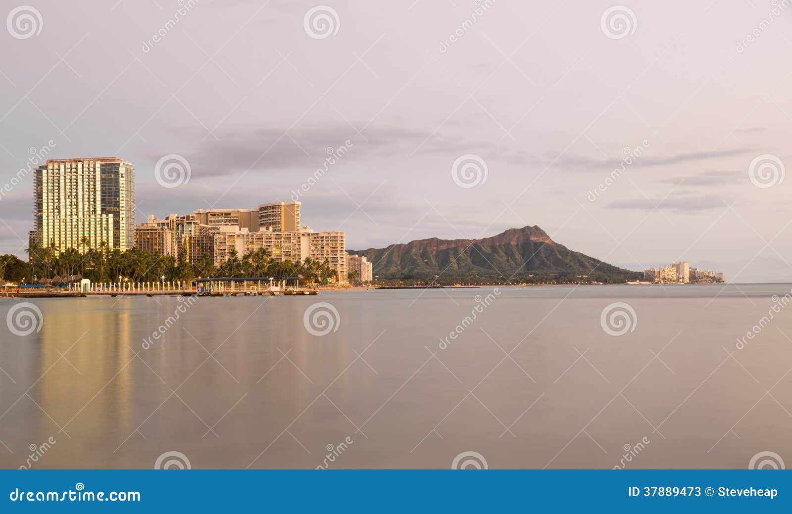 威基基奥阿胡岛夏威夷全景