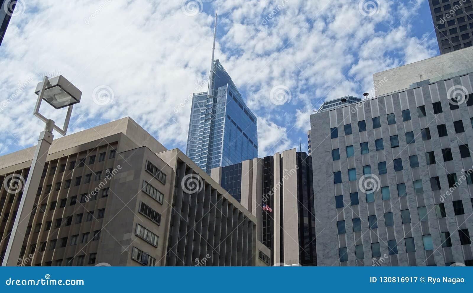 威尔希尔盛大中心在街市洛杉矶,美国