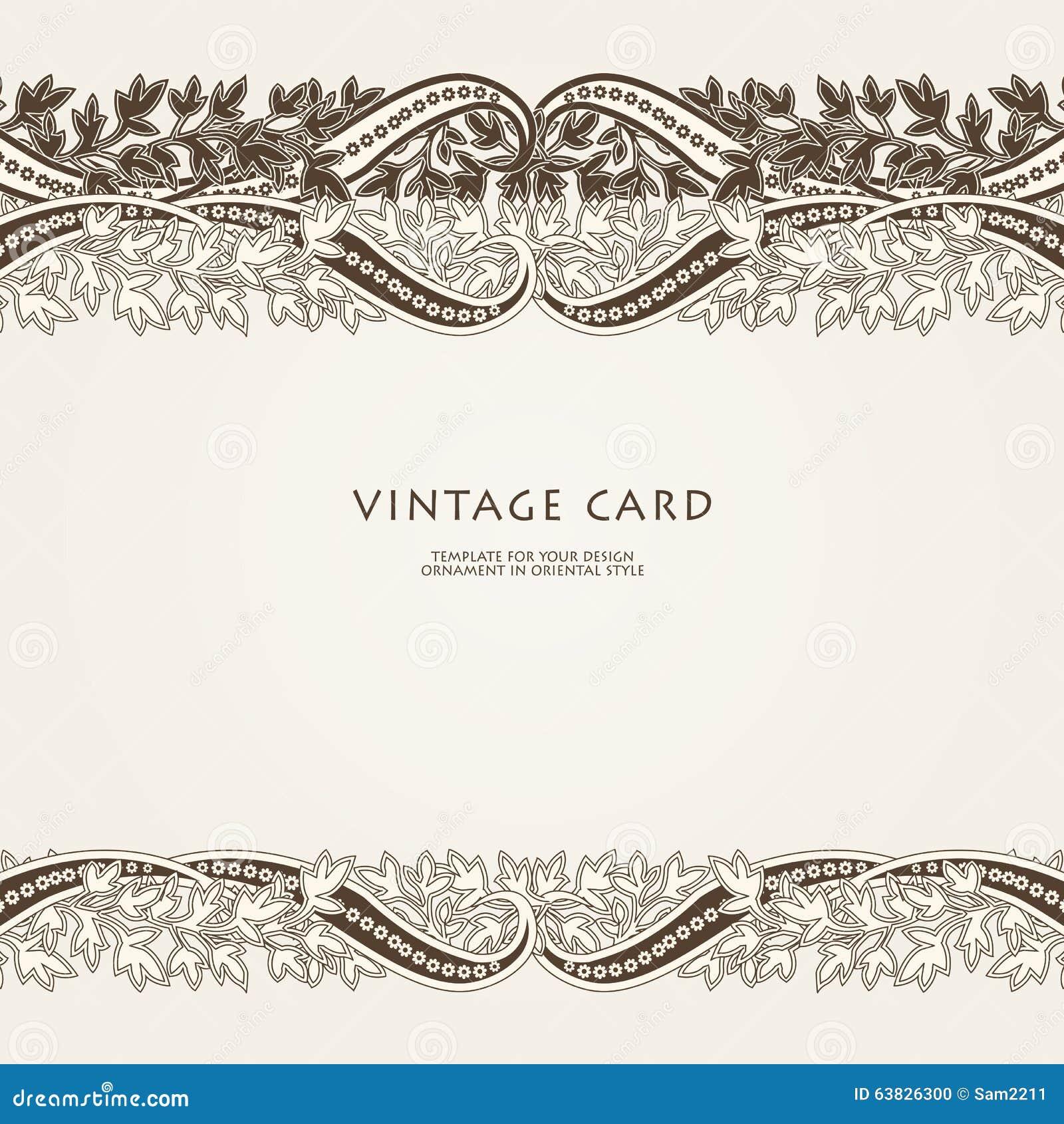 婚礼与种族花佩兹利装饰品的邀请卡片