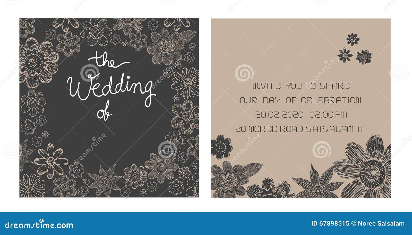 婚礼邀请卡片传染媒介