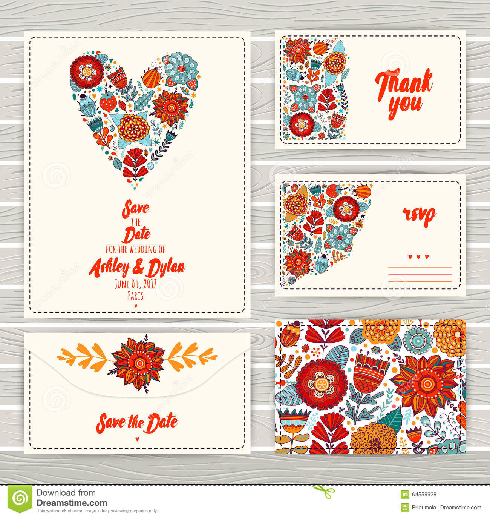 婚礼邀请模板:邀请,信封,谢谢拟订,保存日期卡片 设置婚礼 RSVP卡片 婚姻事件 VA
