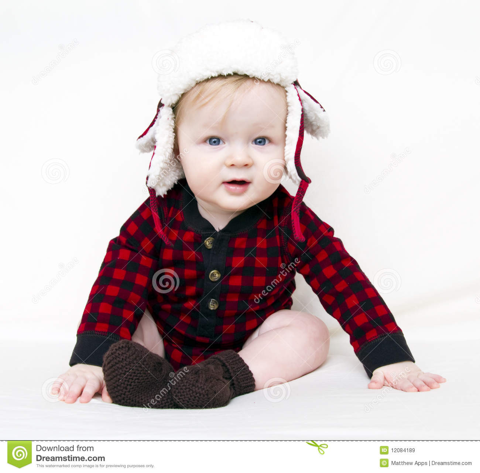 婴孩圣诞节帽子红色衬衣