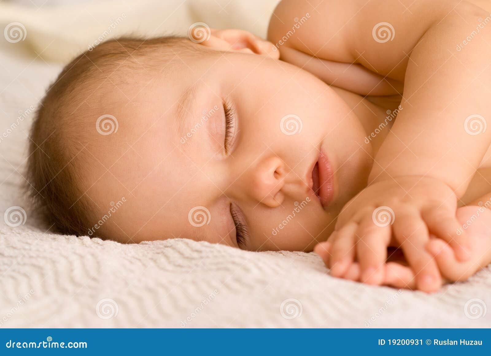婴孩好的休眠白色