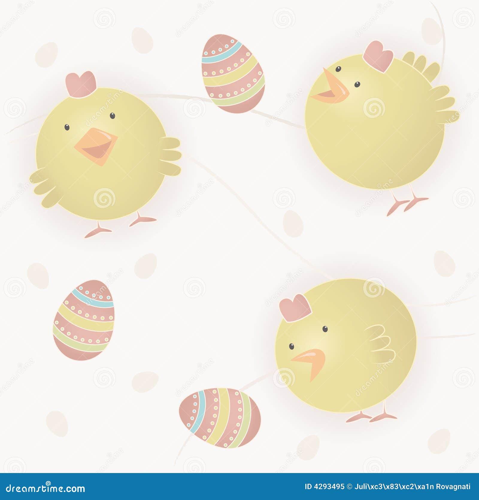 婴孩小鸡复活节