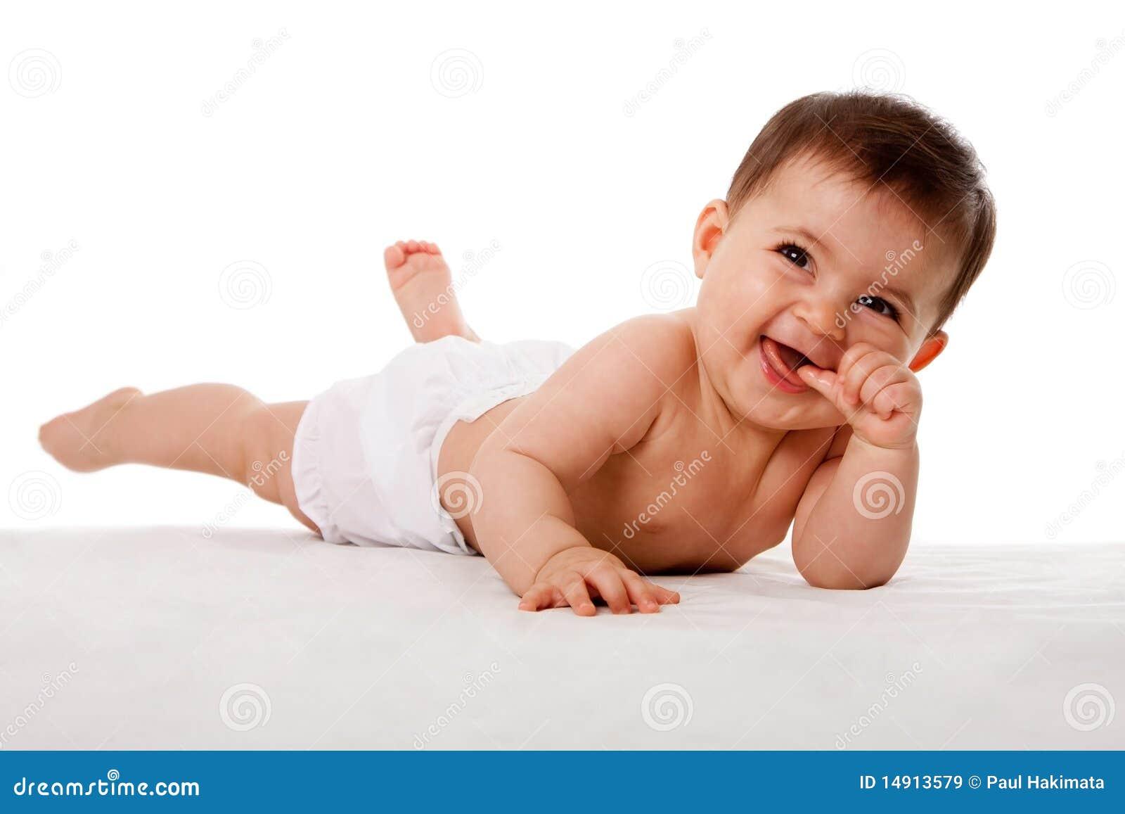 婴孩愉快的放置的嘴略图
