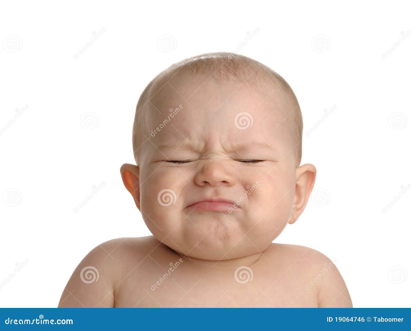 婴孩查出的噘嘴的白色