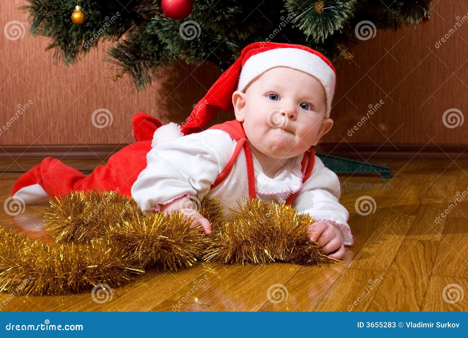 婴孩礼品小的圣诞老人
