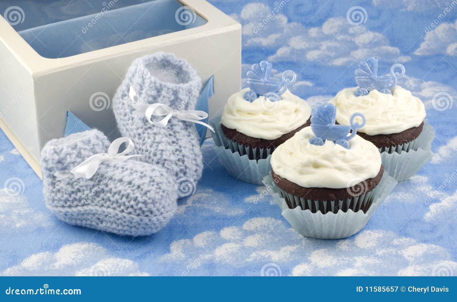 婴孩赃物男孩杯形蛋糕