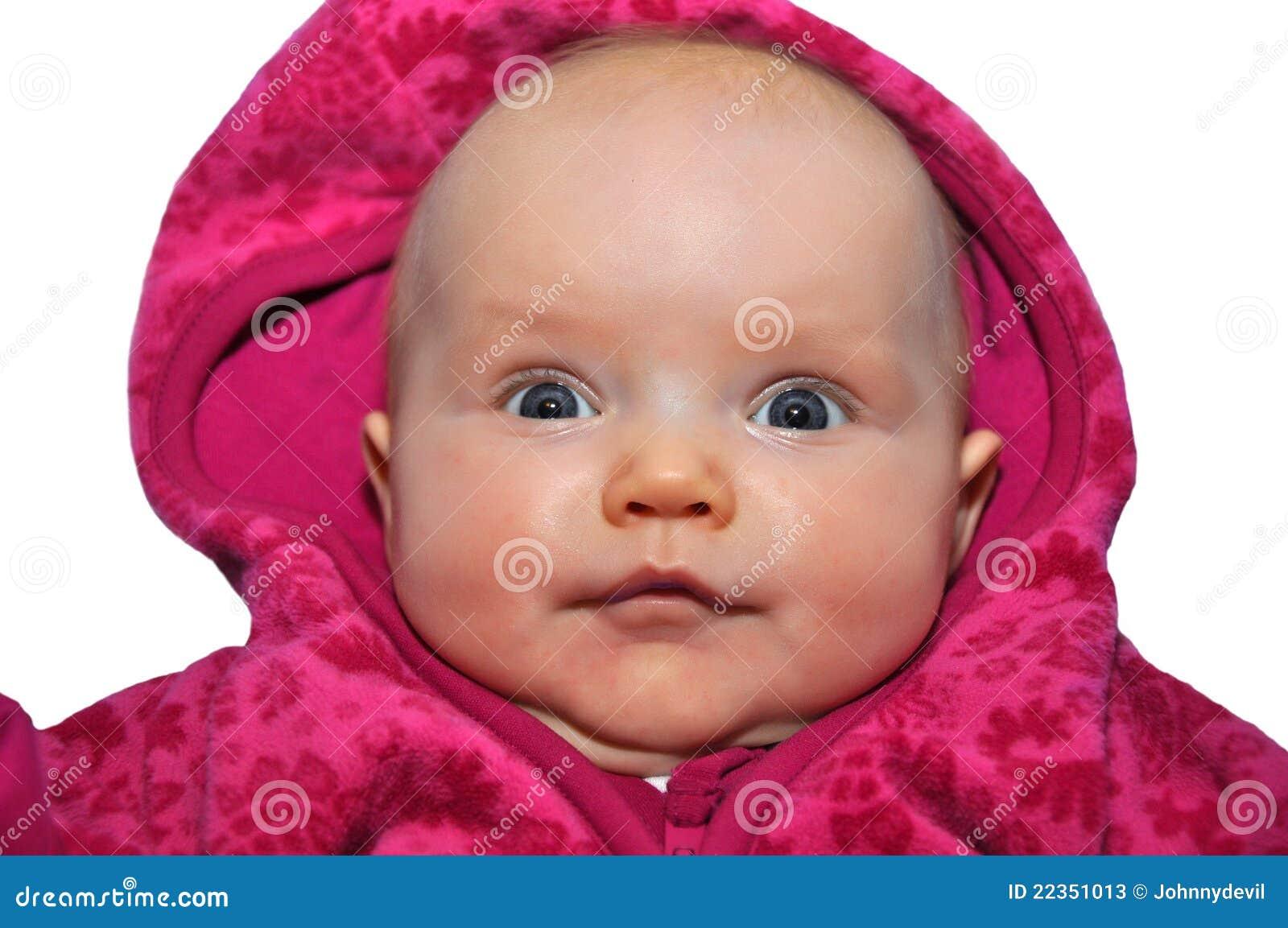 婴孩逗人喜爱的纵向