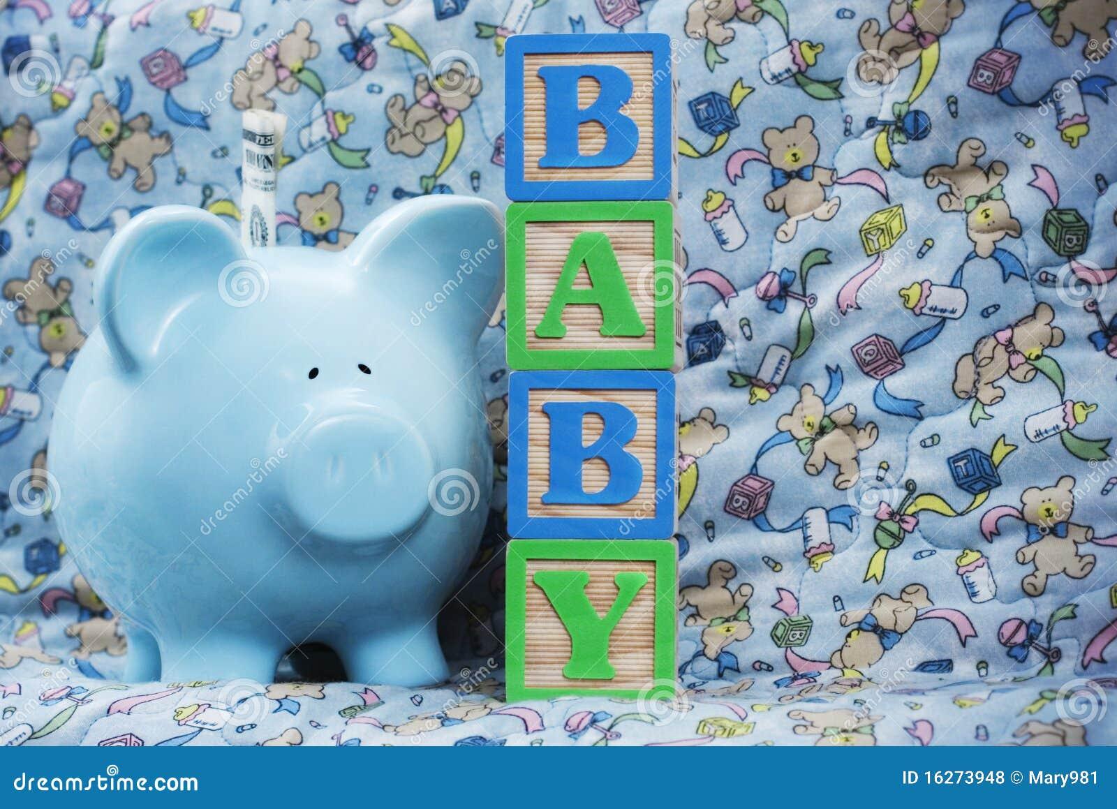 婴孩银行蓝色贪心