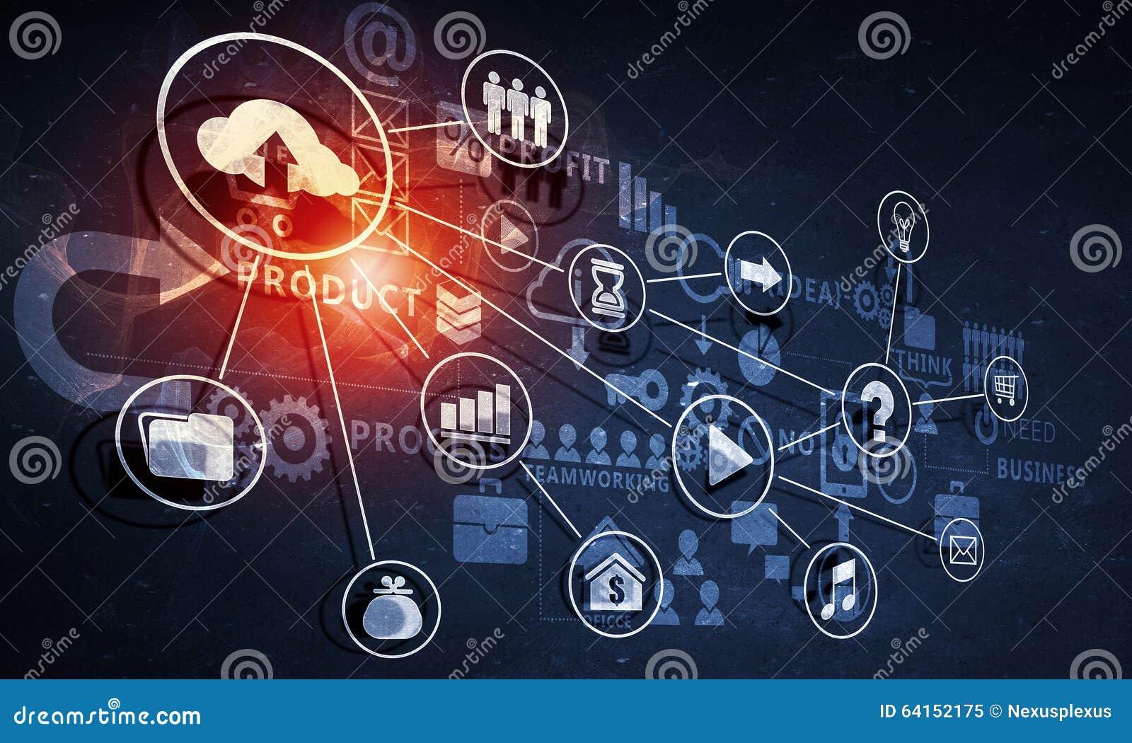数字式与网络连接和战略概念的背景图象.图片