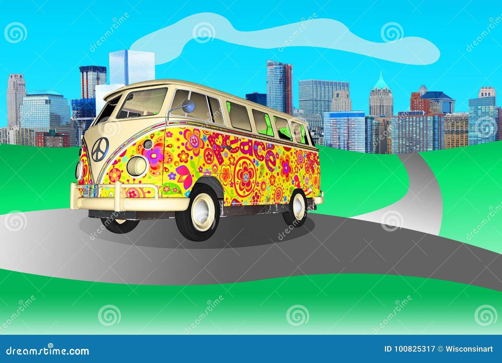 嬉皮和平爱VW公车运送
