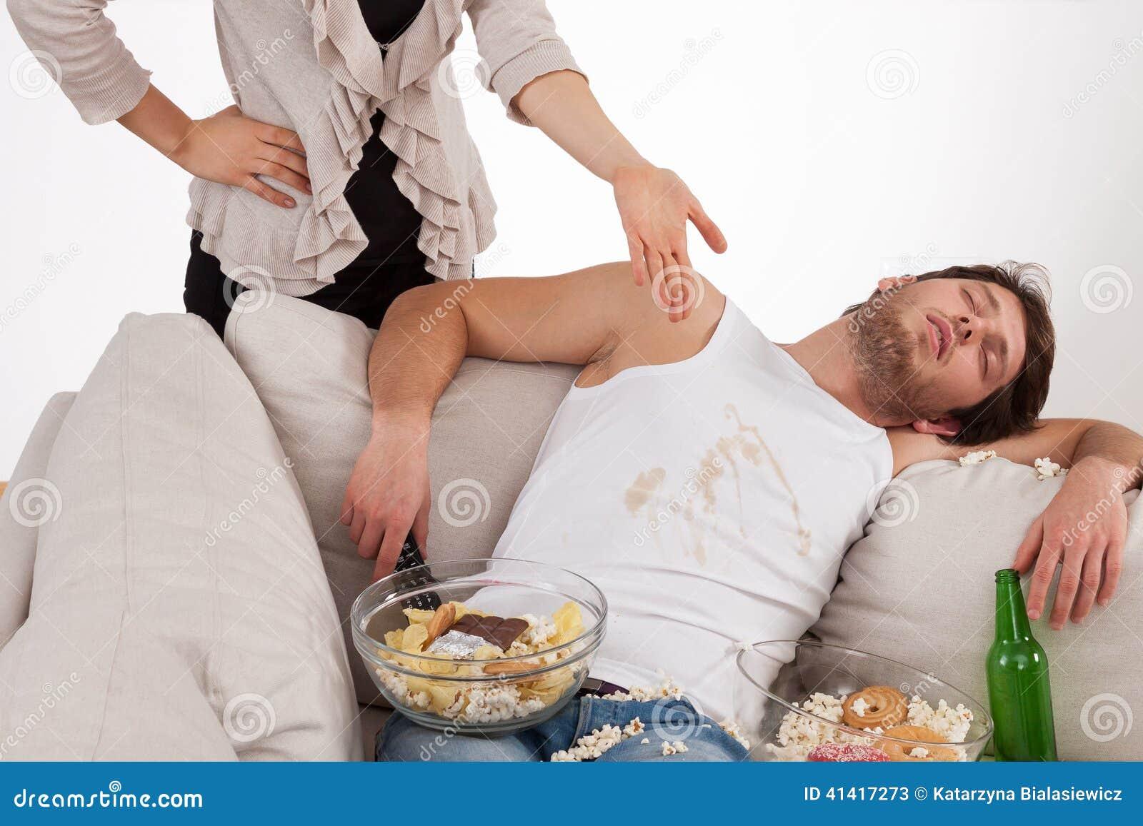 妻子和懒惰丈夫