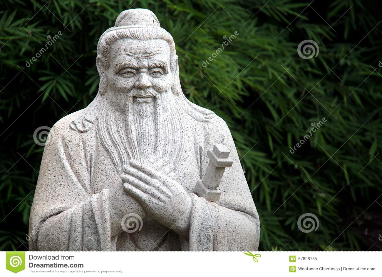 孔子中国雕象