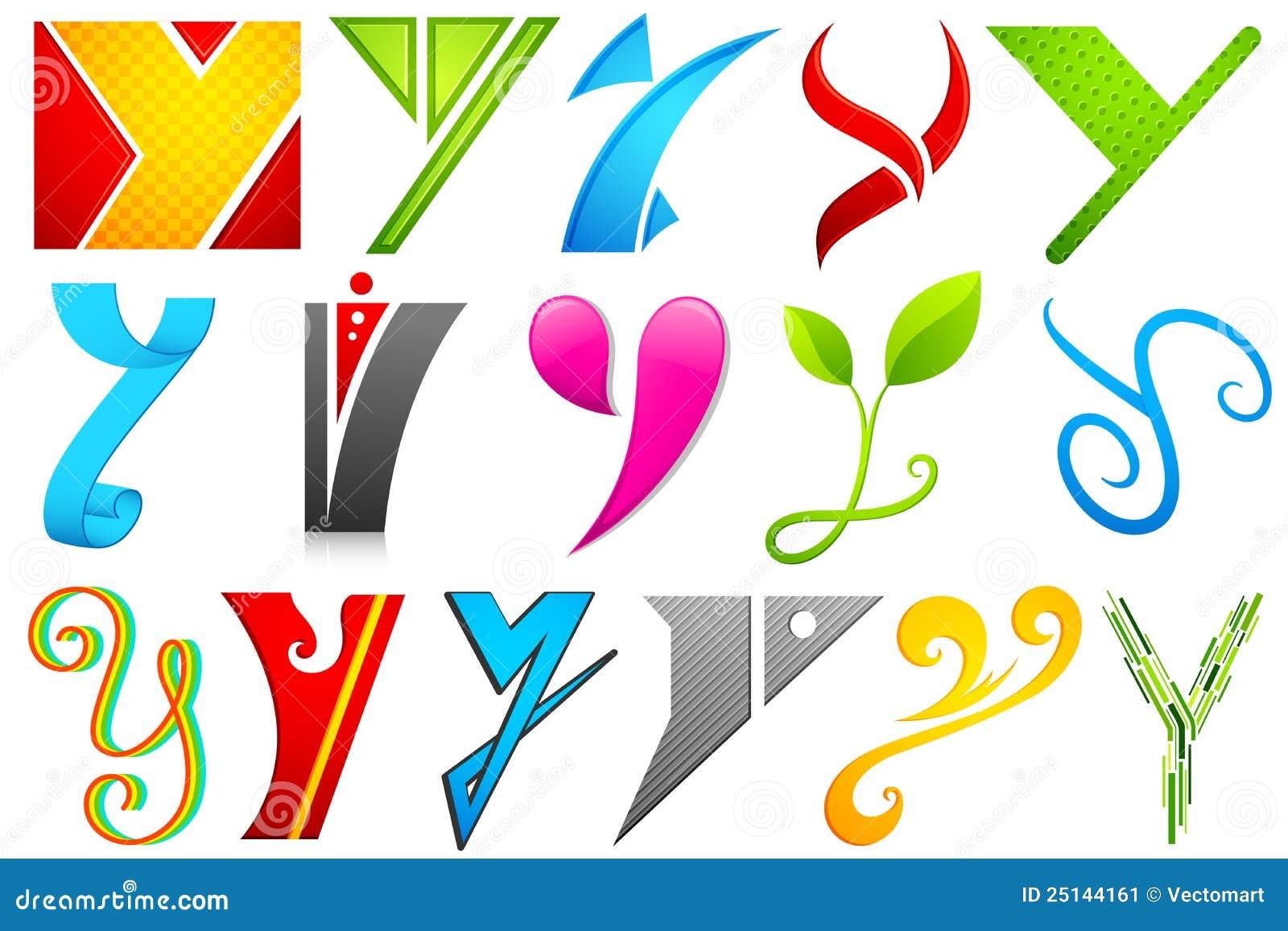 �9��yf��Y�_字母表五颜六色的另外图标例证集合y.