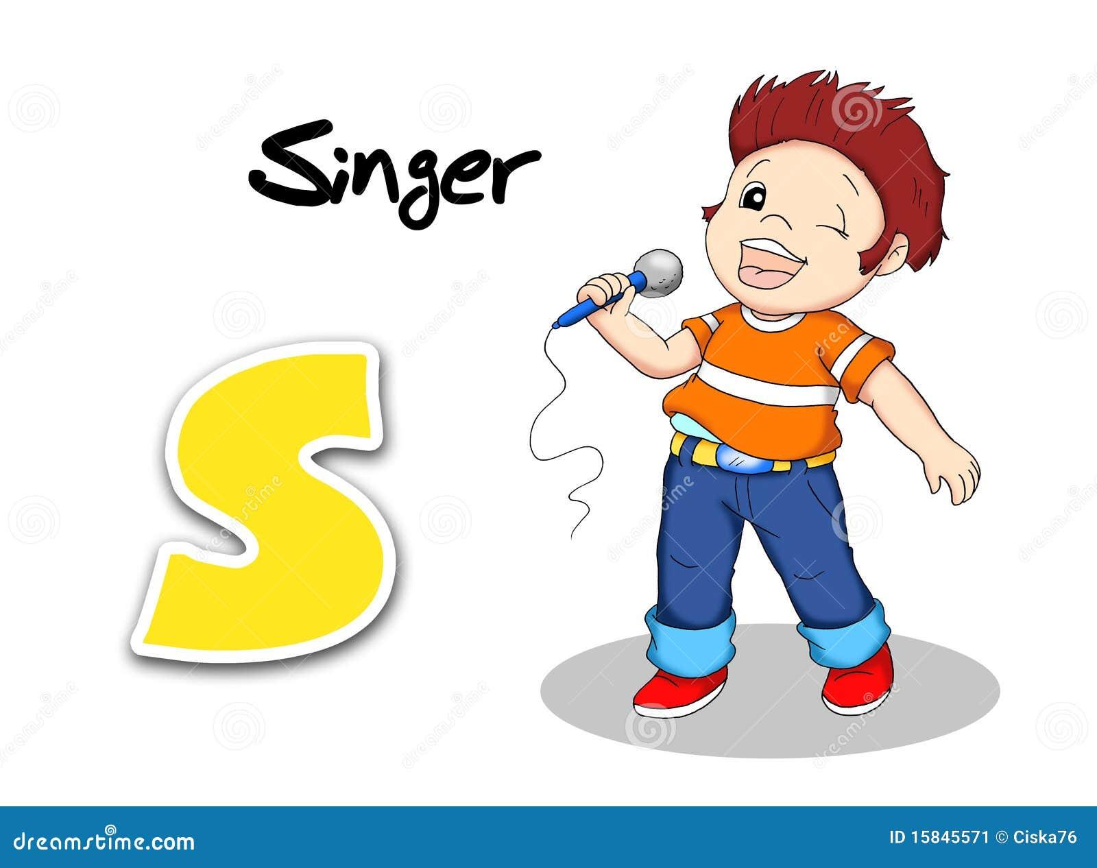 字母表数字式例证歌唱家工作.图片