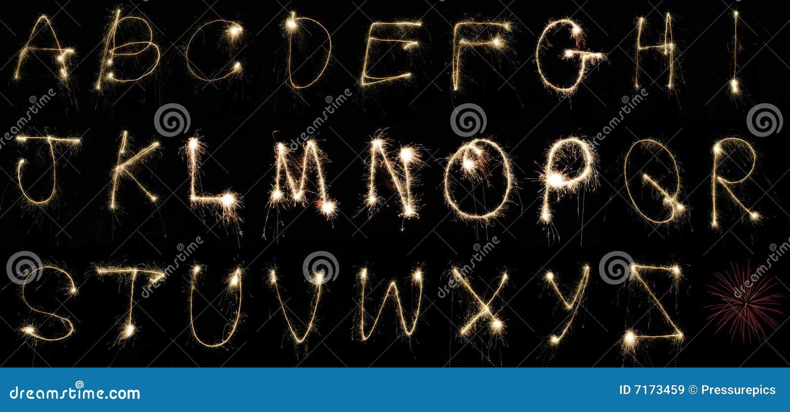 字母表闪烁发光物