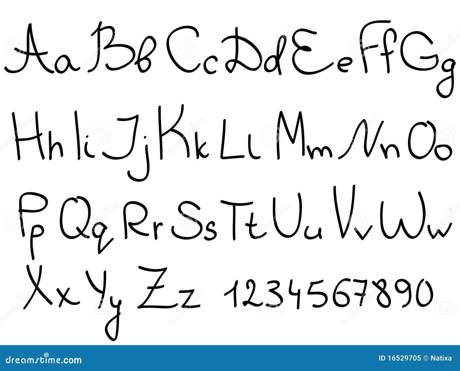 字母表手写被设置的信函数字.图片