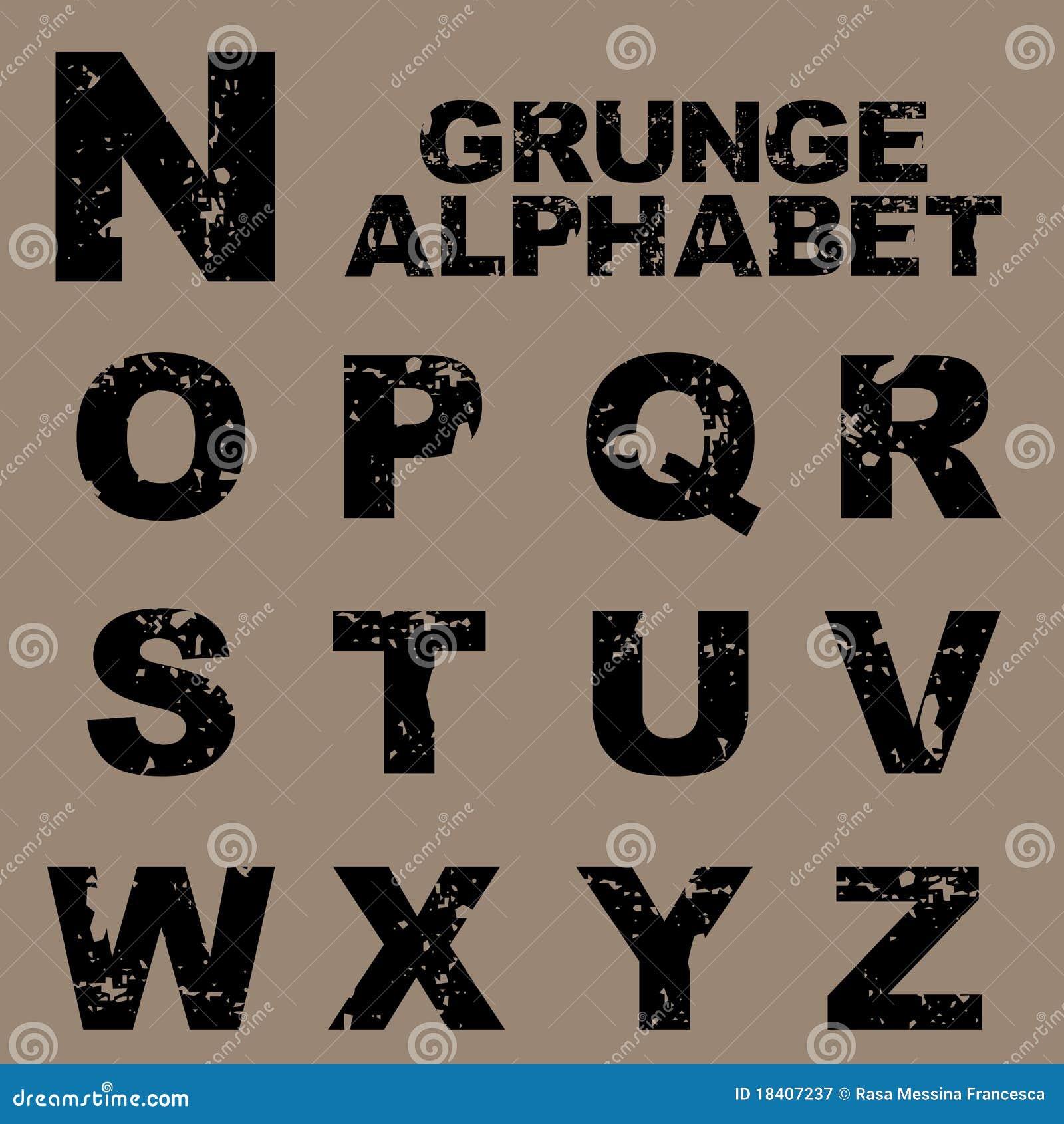 癹n��.�z�_字母表grunge n集合z