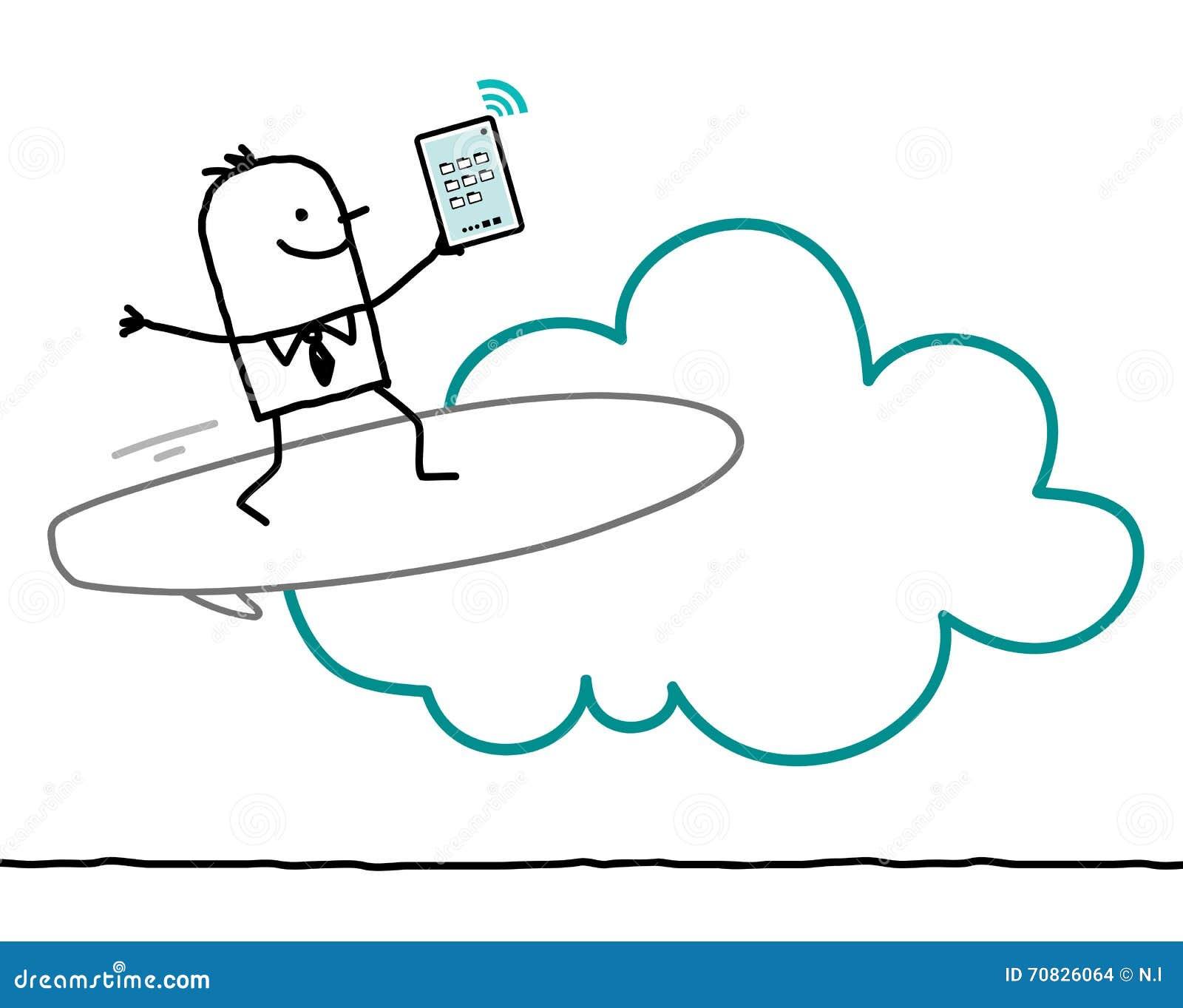 字符和云彩-海浪