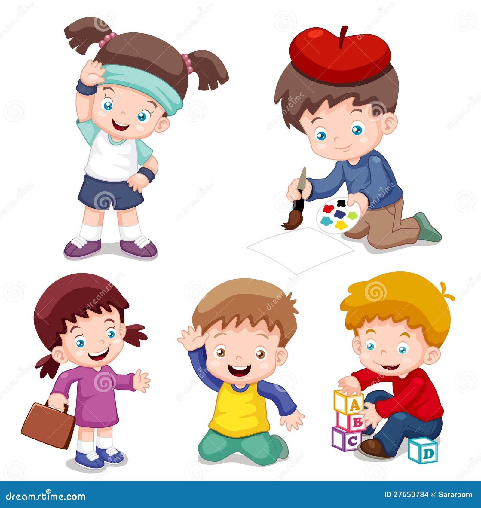 字符孩子动画片