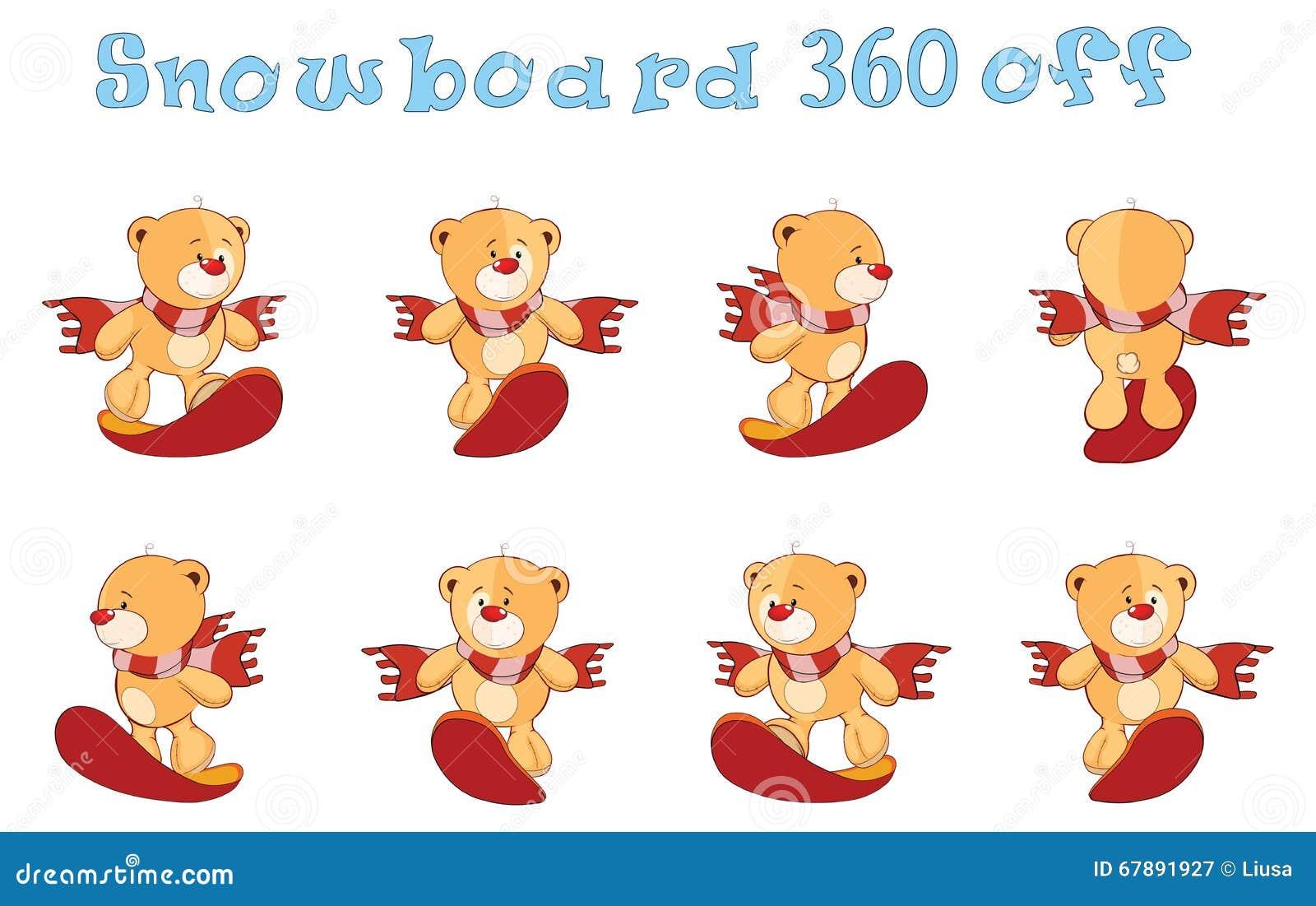 字符逗人喜爱的动画片熊为计算机游戏戏弄