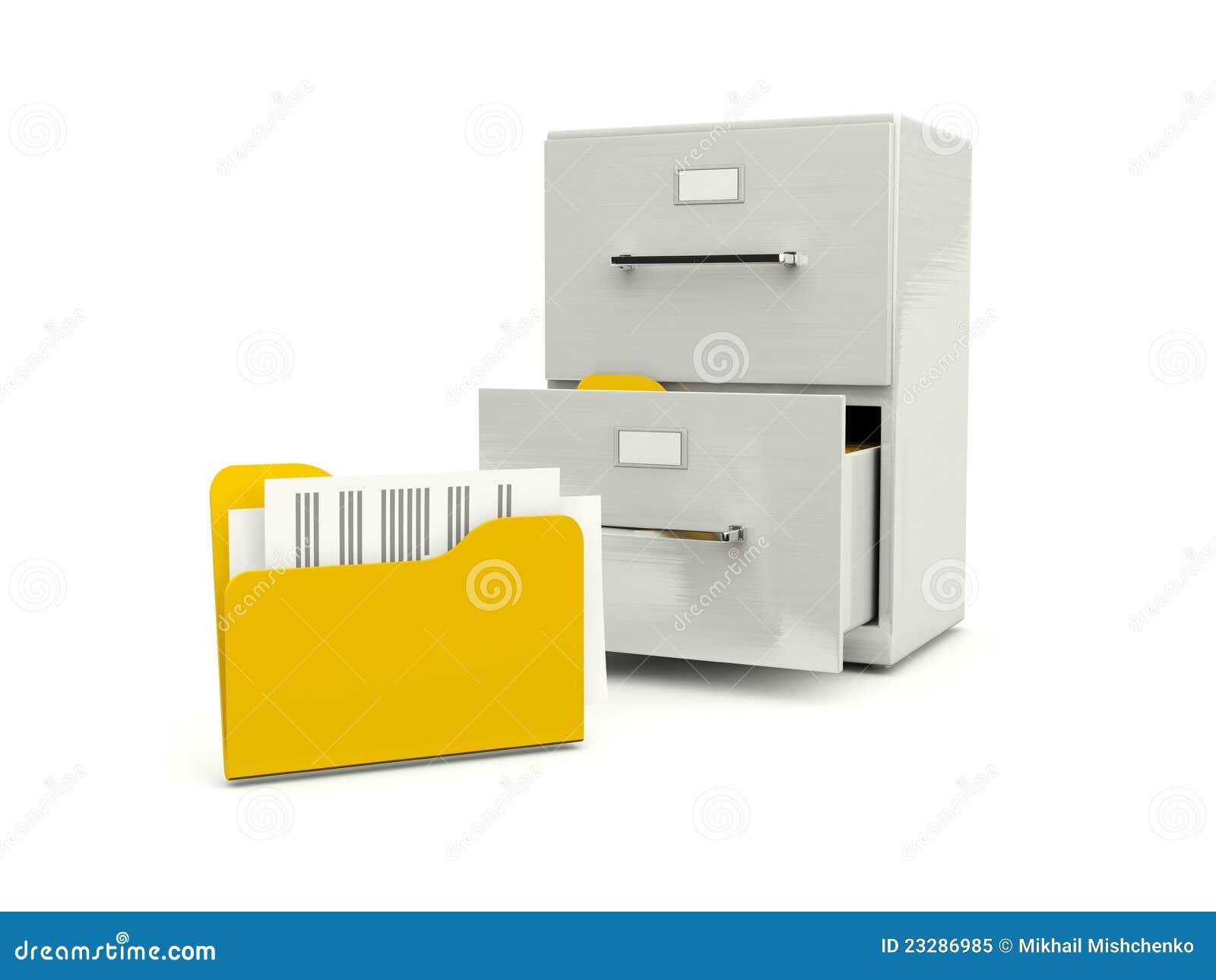 存档机柜文件夹