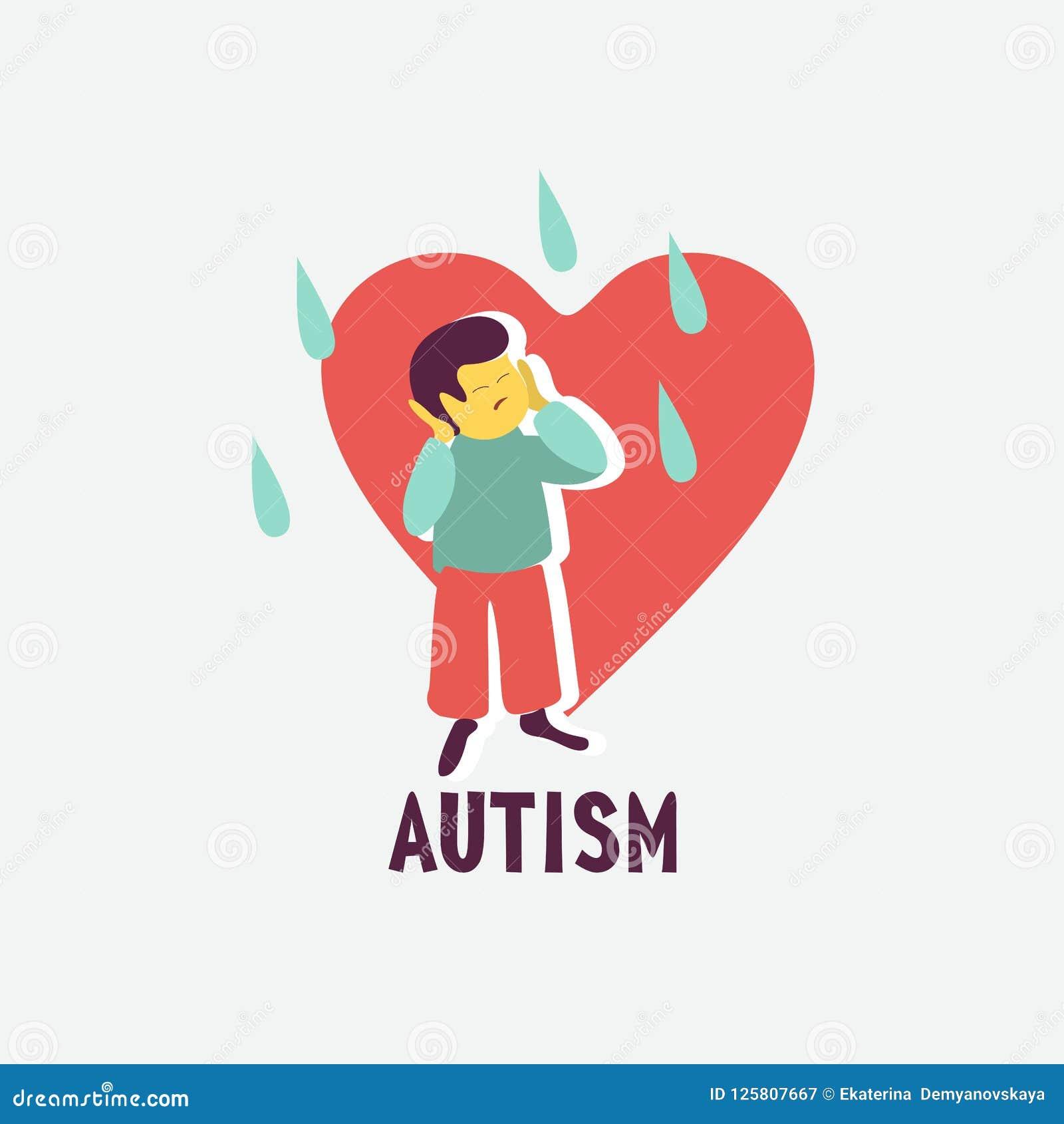 孤独性 孤独性综合症状的象征对于儿童 Childr