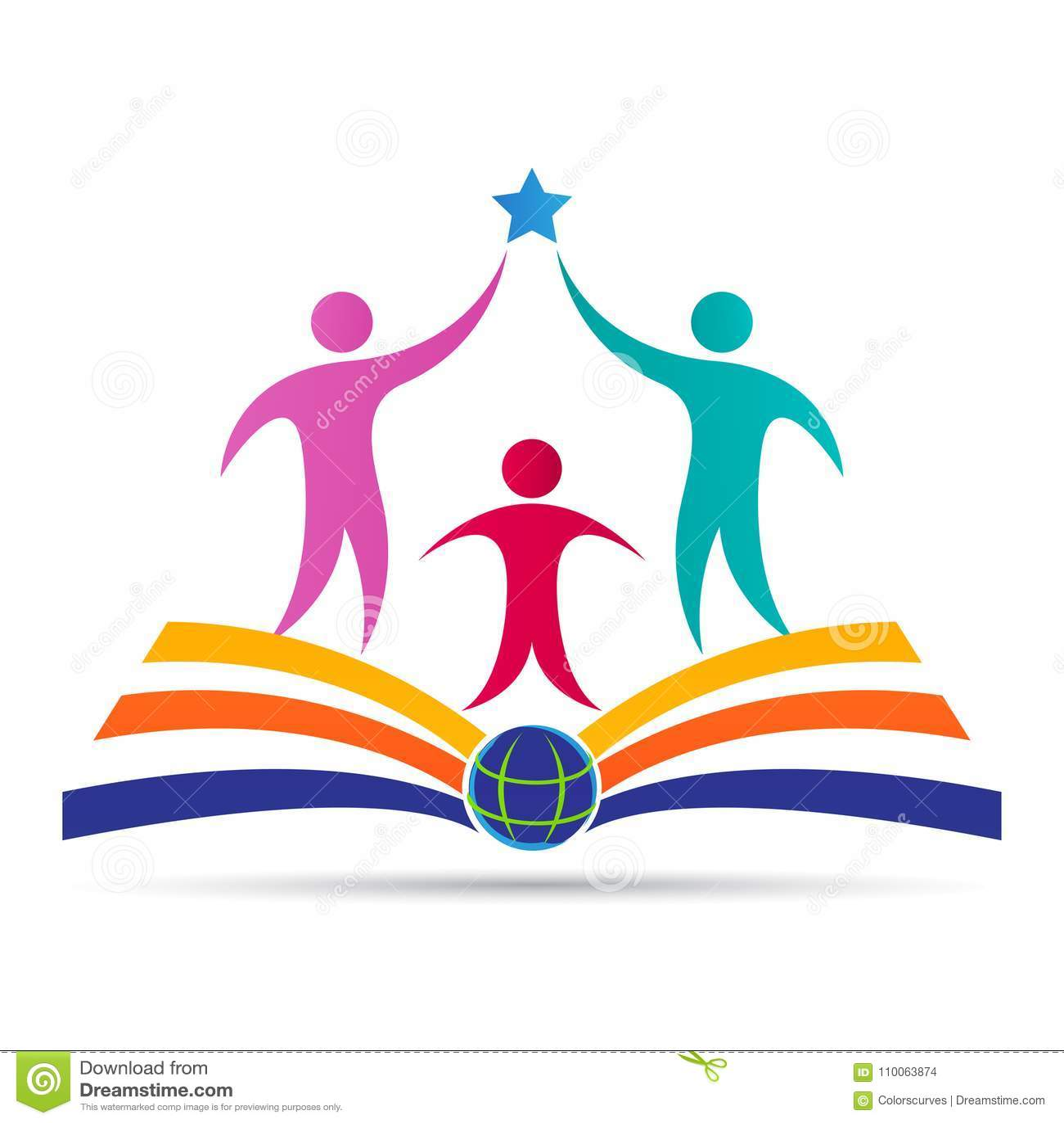 学术教育象征学校学院大学成功商标设计