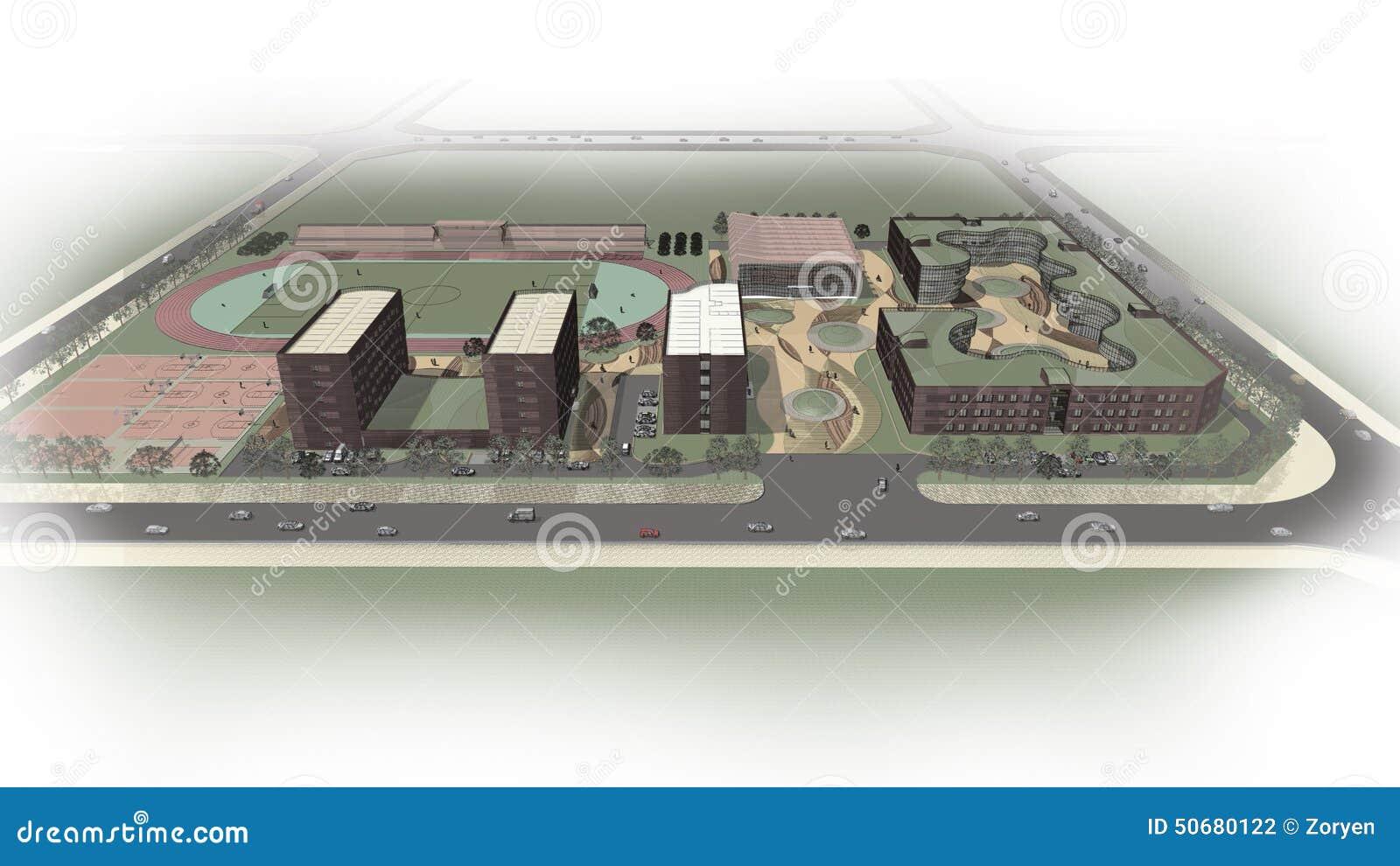 Download 学校俯视图 库存照片. 图片 包括有 鸟舍, 教育, 拱道, 房子, 视图, 绿色, 概览, 学院, 眼睛 - 50680122