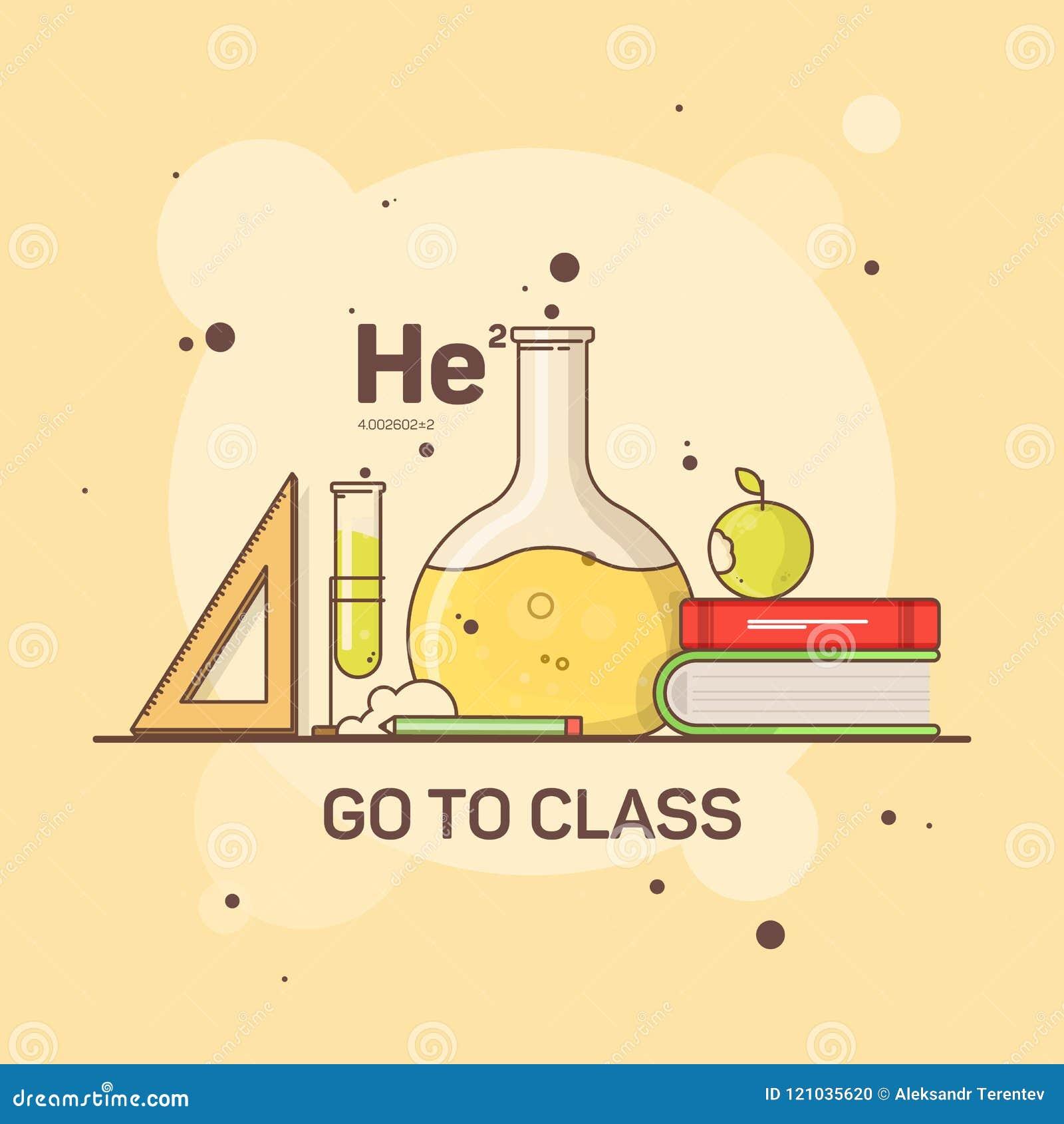 学校和学生供应的平的图象化学和研究的