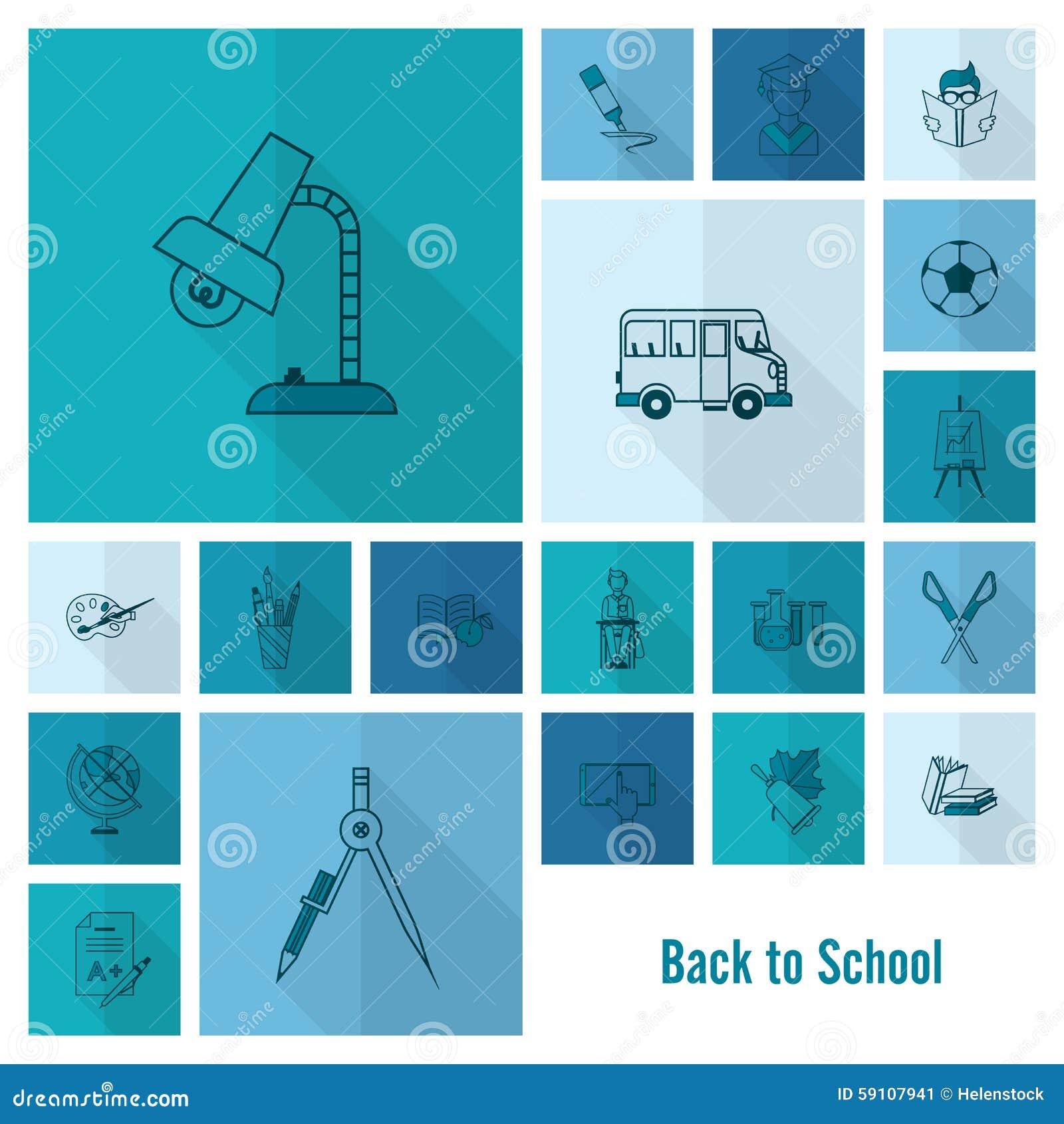 学校和教育图标