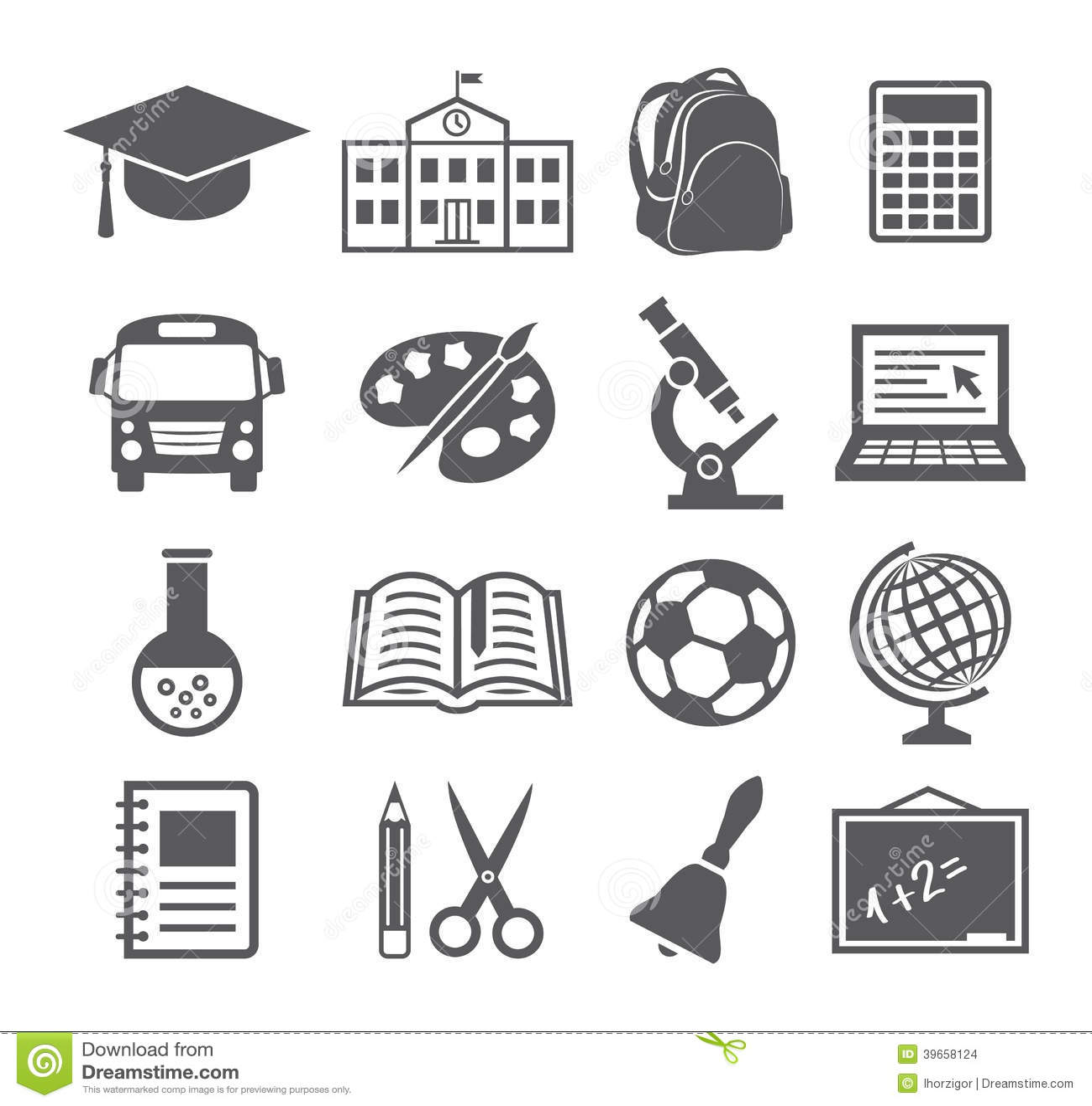 学校和教育象