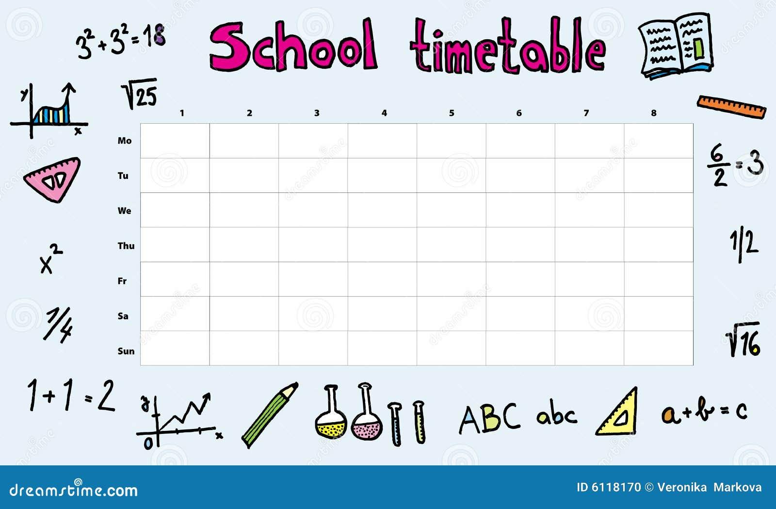 学校时间表