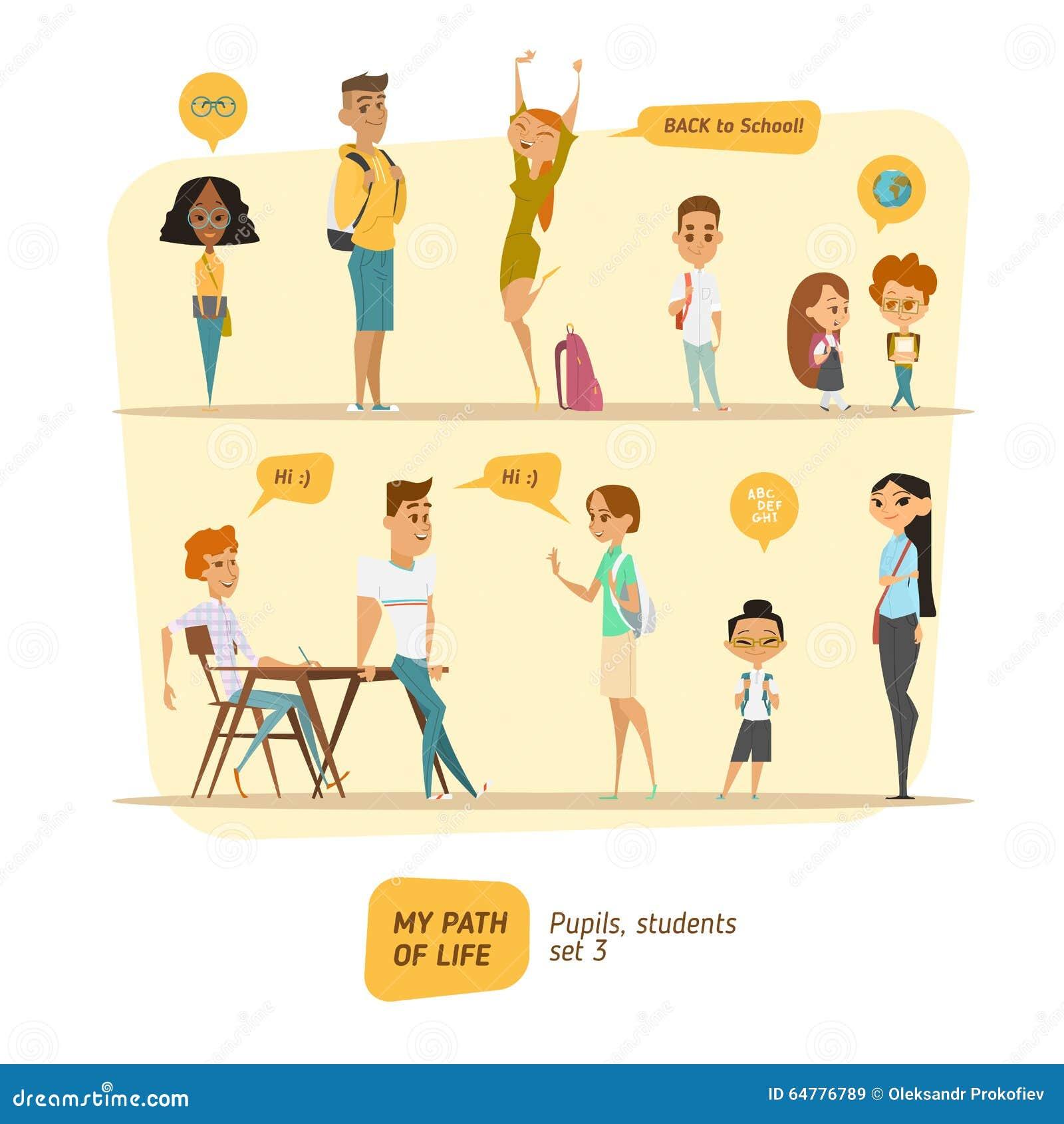 学生和学生传染媒介集合