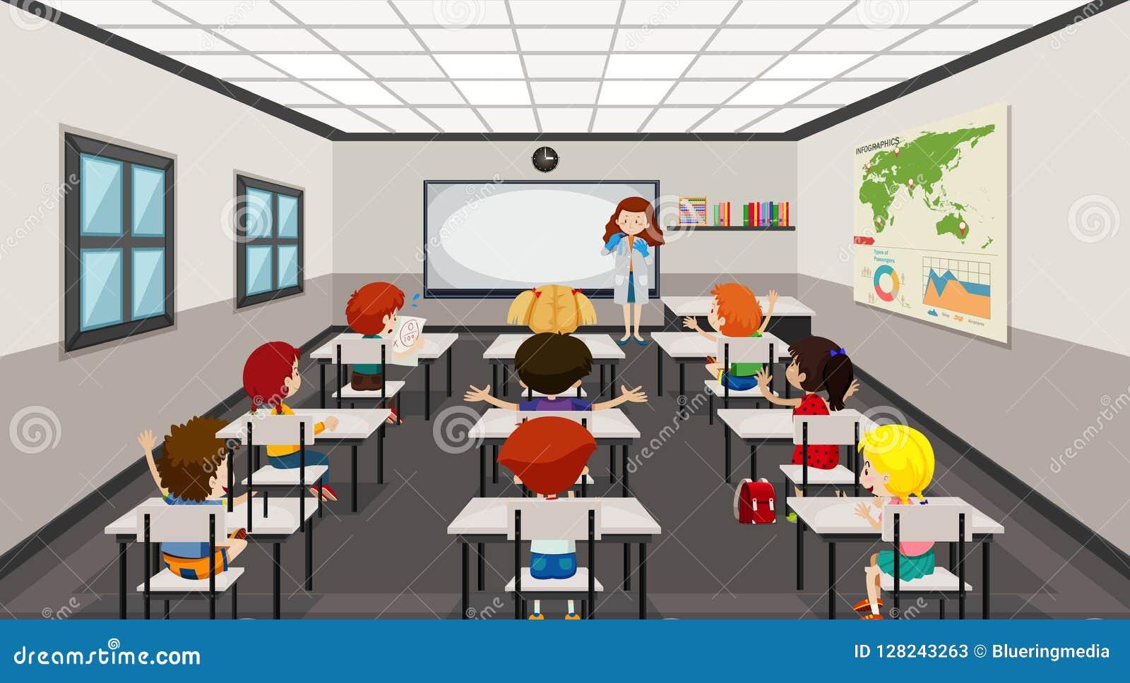 学生在现代教室
