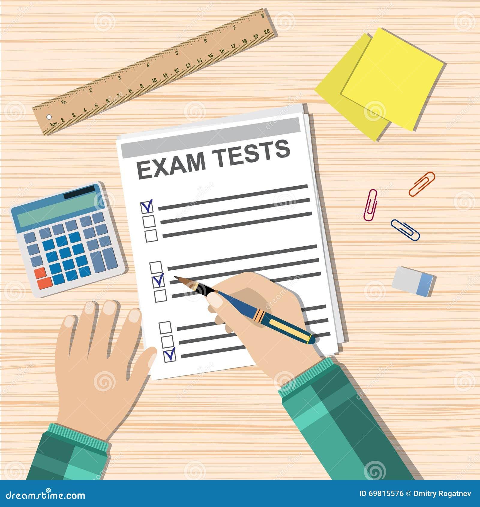 学生手填装考试测验纸