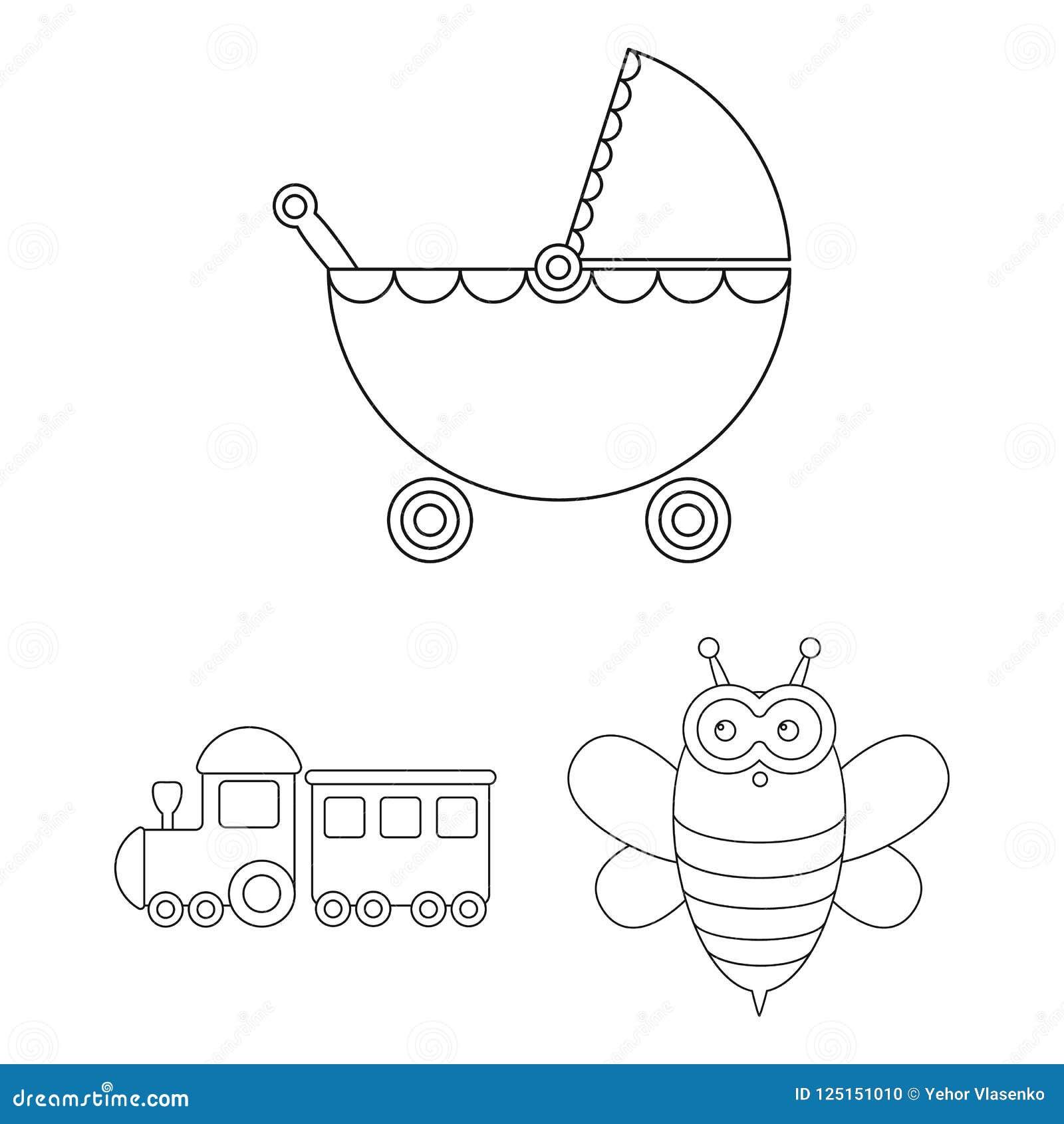 孩子戏弄在集合汇集的概述象的设计 比赛和中看不中用的物品导航标志储蓄网例证
