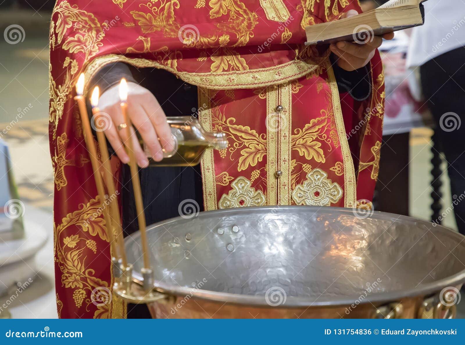 孩子洗礼仪式的准备在东正教里