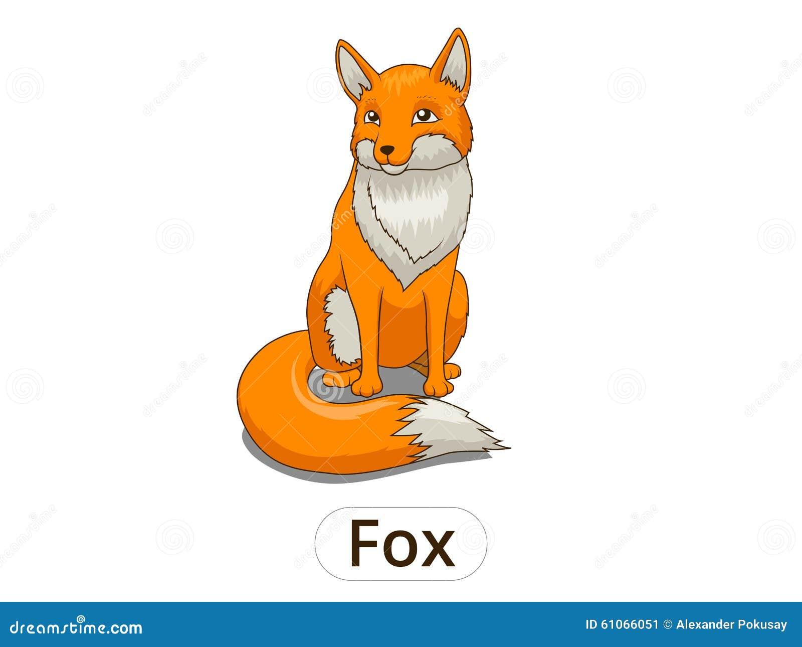 孩子的森林动物狐狸动画片导航例证.
