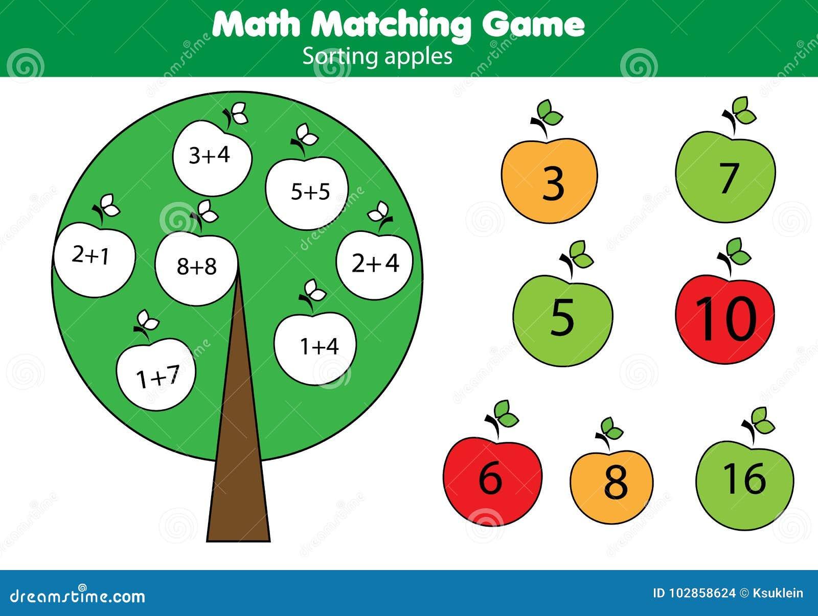 孩子的算术教育比赛 配比的数学活动 计数孩子的比赛,加法