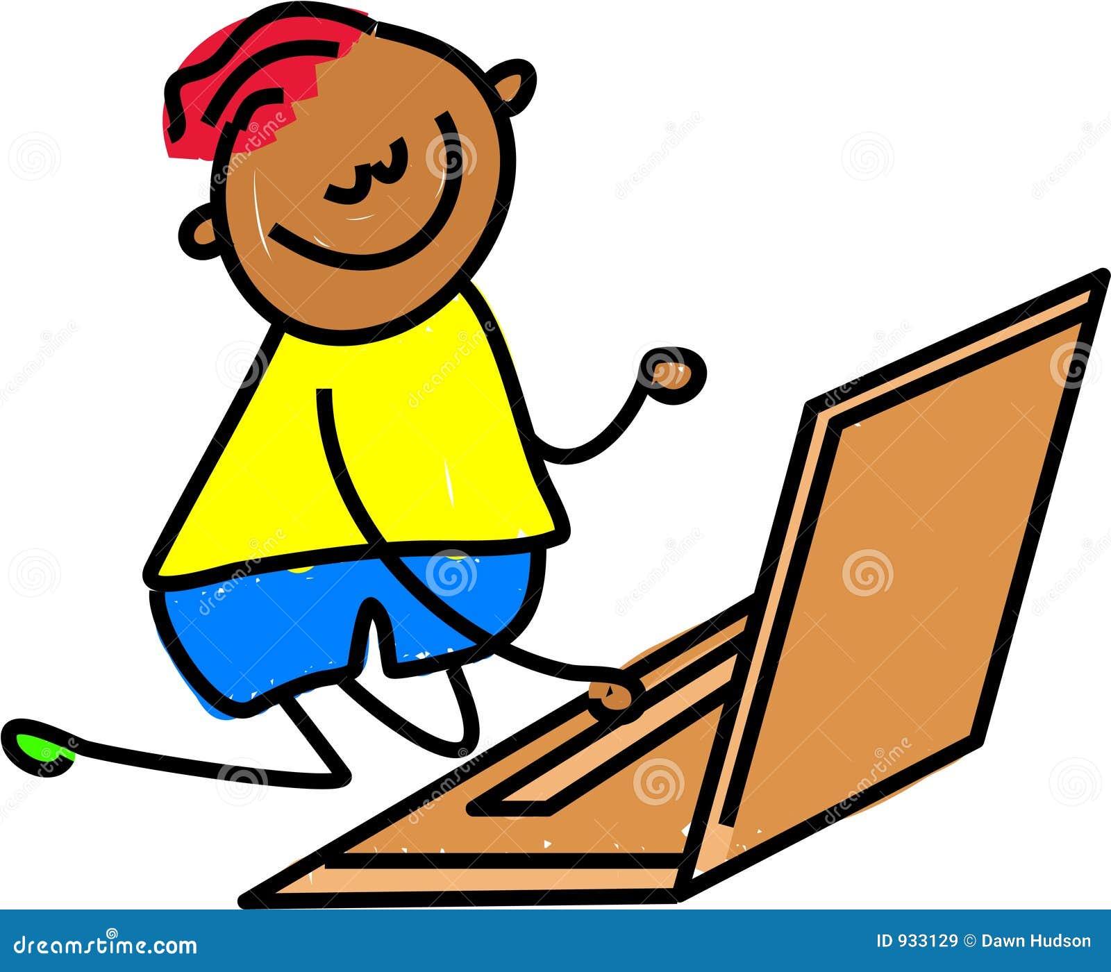 孩子膝上型计算机