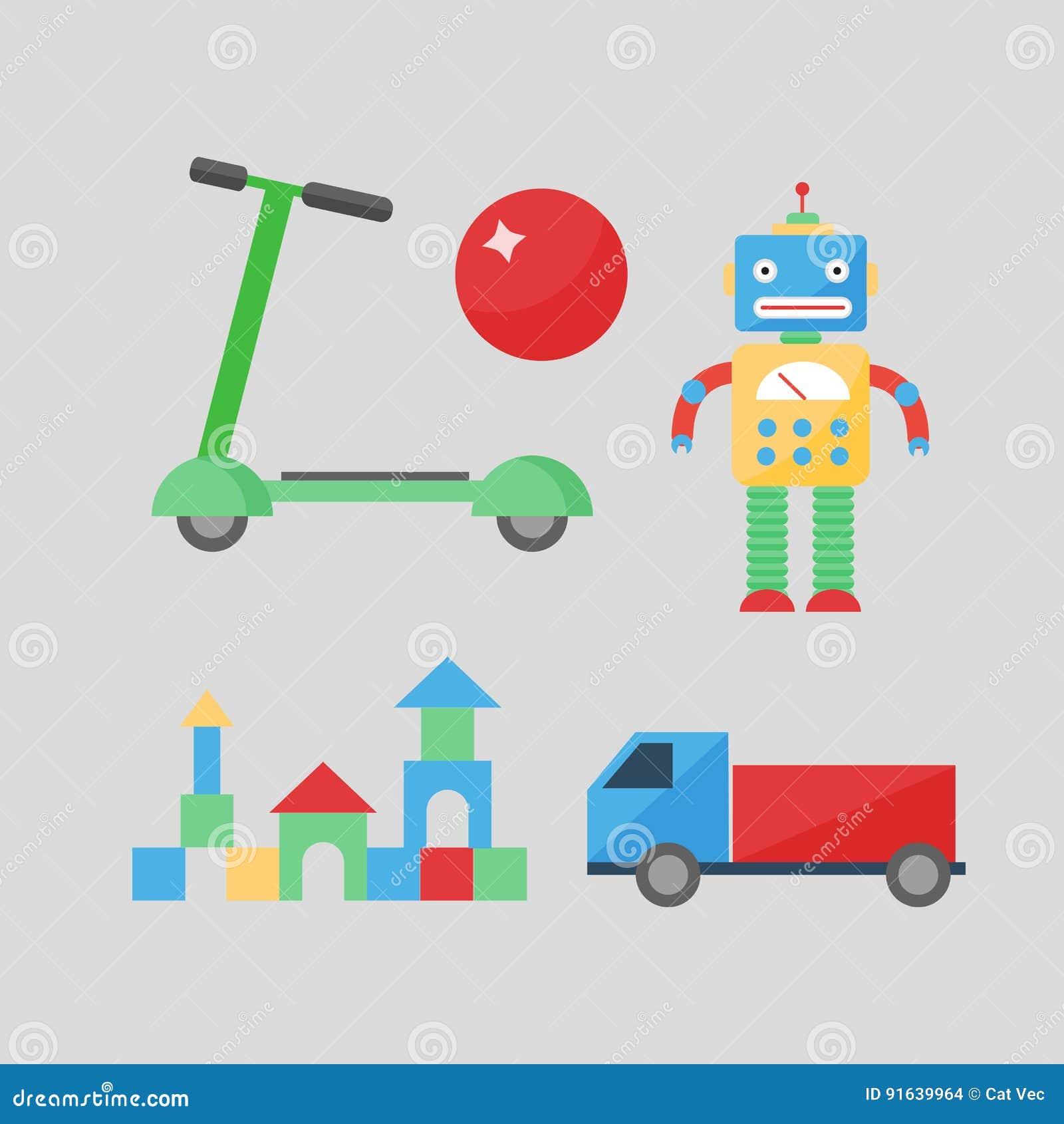 婴孩戏弄室装饰儿童另外游戏室样式逗人喜爱的滑行车愉快的装饰汽车传染媒介