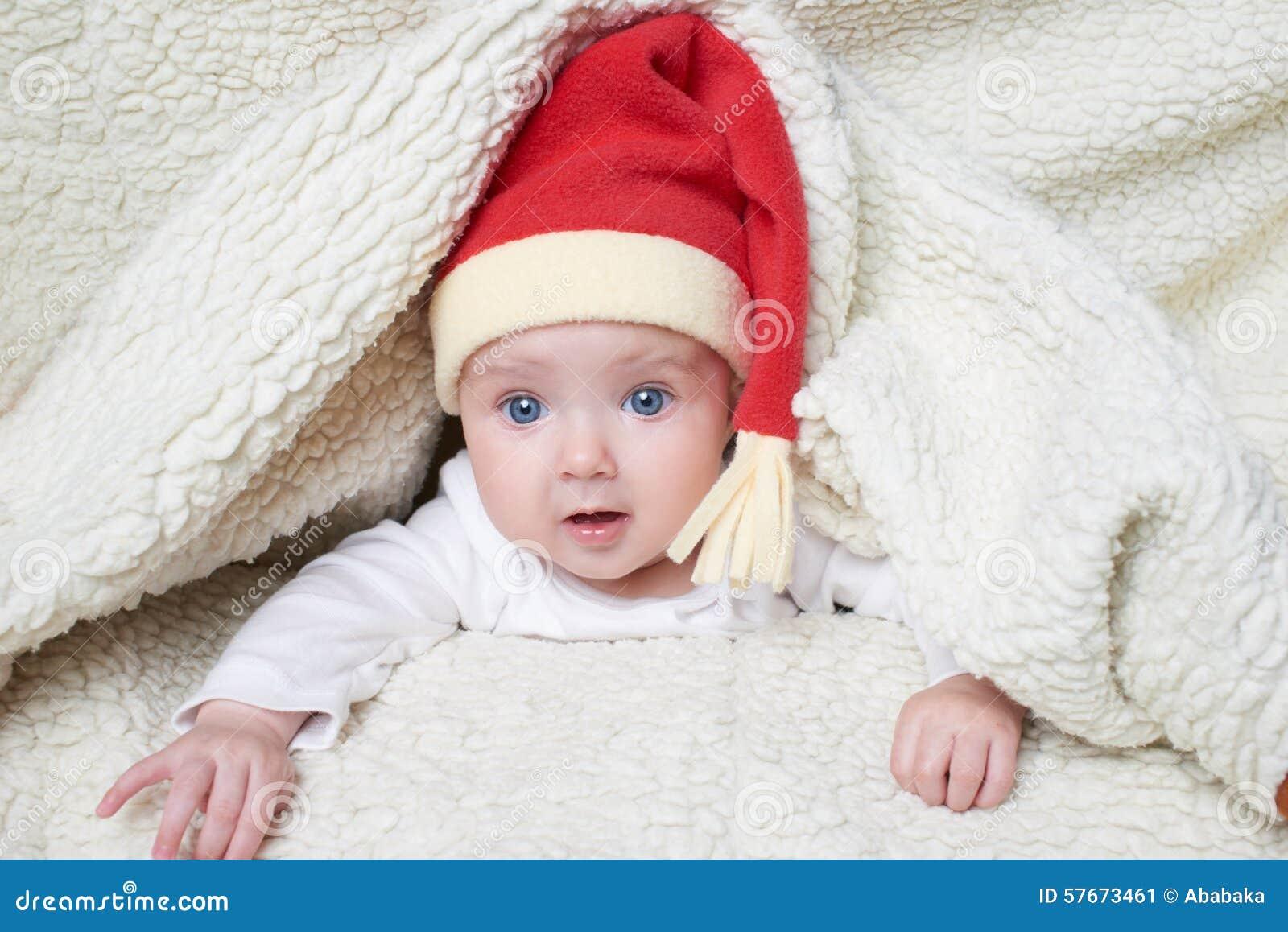 婴孩逗人喜爱的帽子圣诞老人