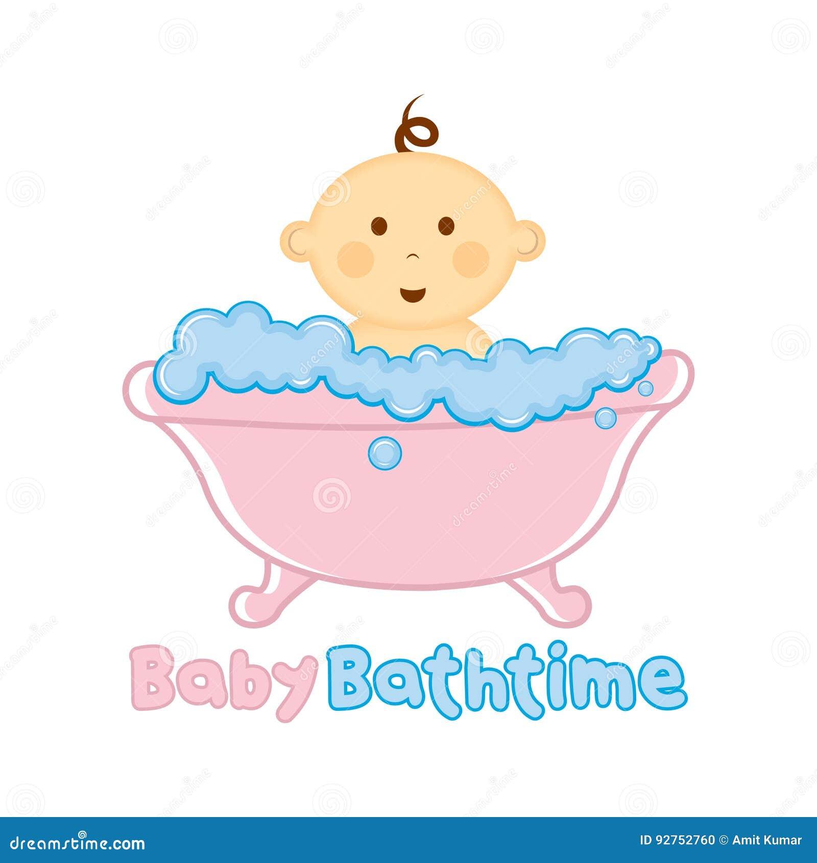 婴孩巴恩时间商标模板,沐浴商标,婴儿送礼会的婴孩