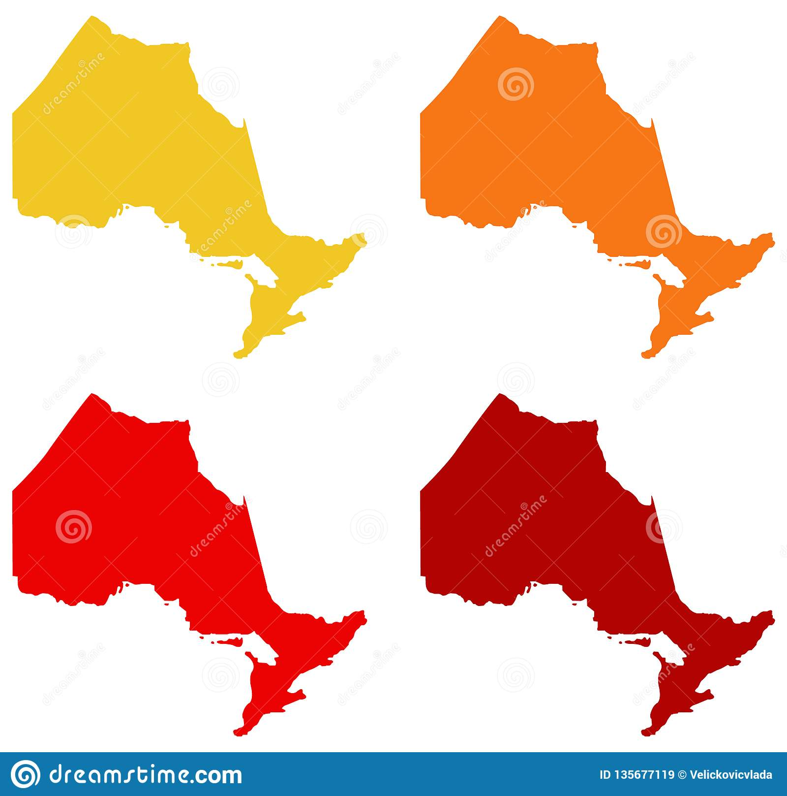 安大略地图-位于位于东部中心位置的加拿大的省
