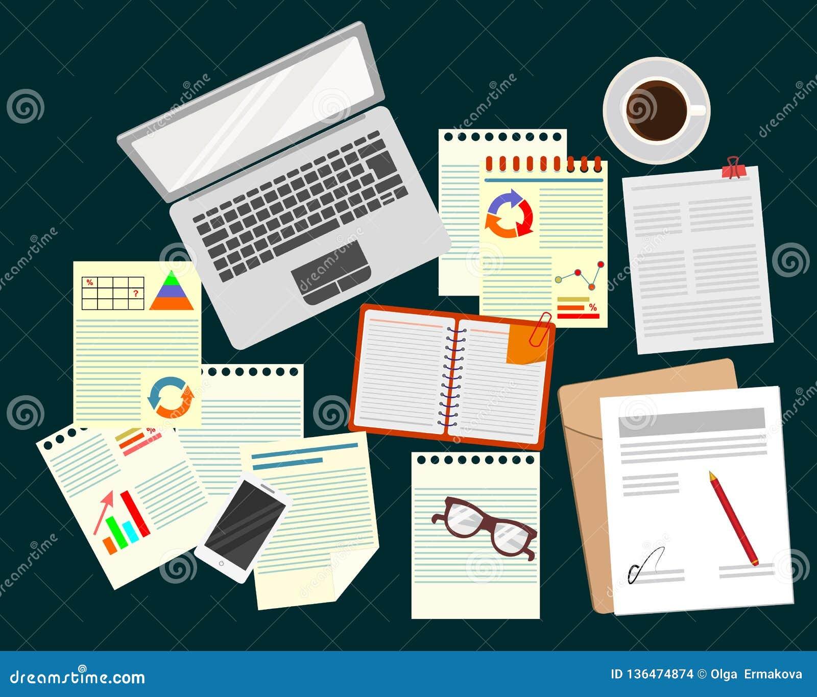 安纳托利亚 事务 经营战略的研究 办公室 现实工作场所组织 膝上型计算机,纸,玻璃